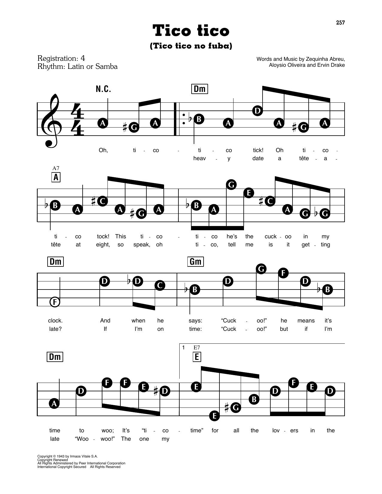 Tico Tico (Tico Tico No Fuba) (E-Z Play Today)