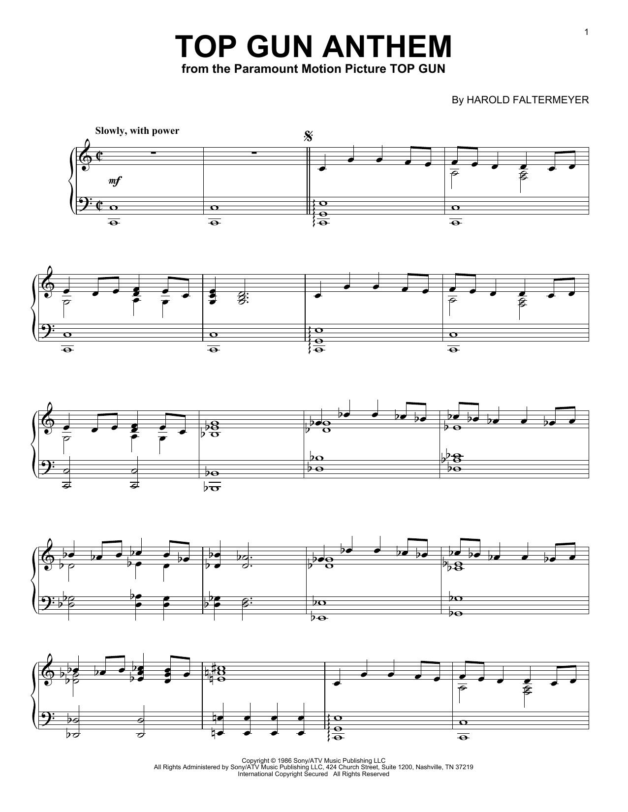 Top Gun Anthem (Piano Solo)