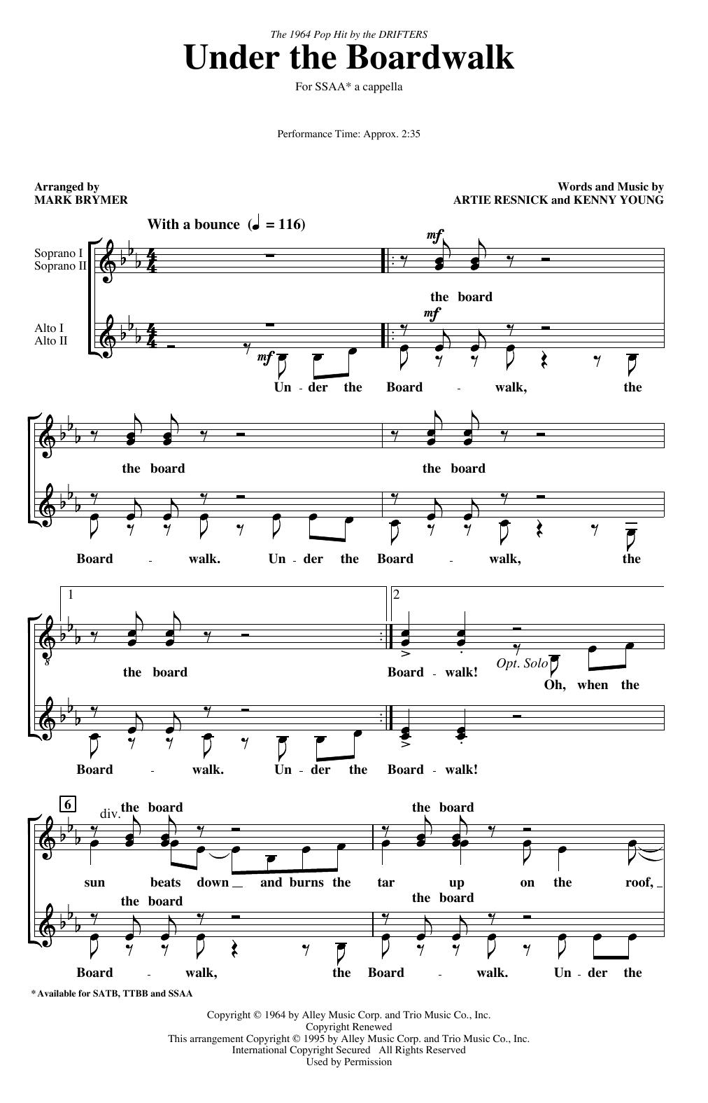 Under The Boardwalk (arr. Mark Brymer) (SSA Choir)
