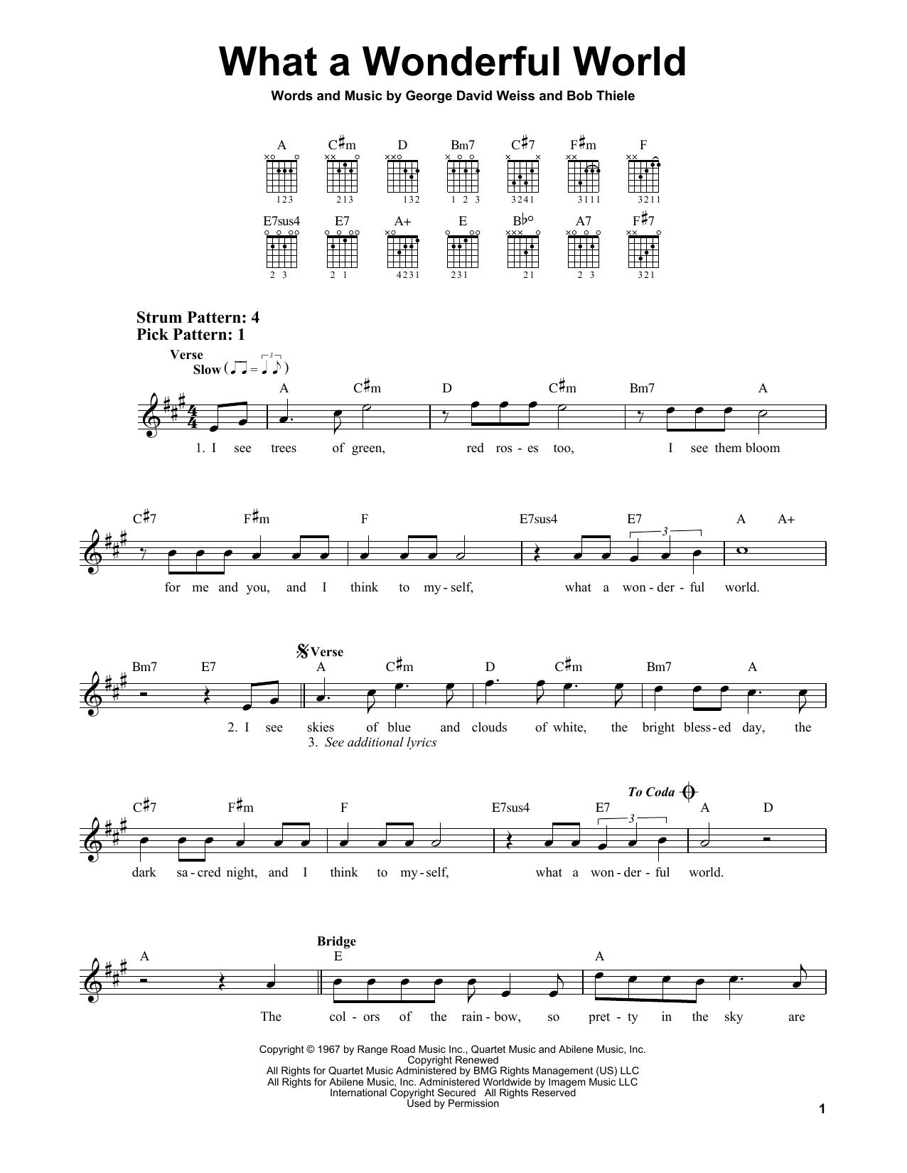 What A Wonderful World (Easy Guitar)