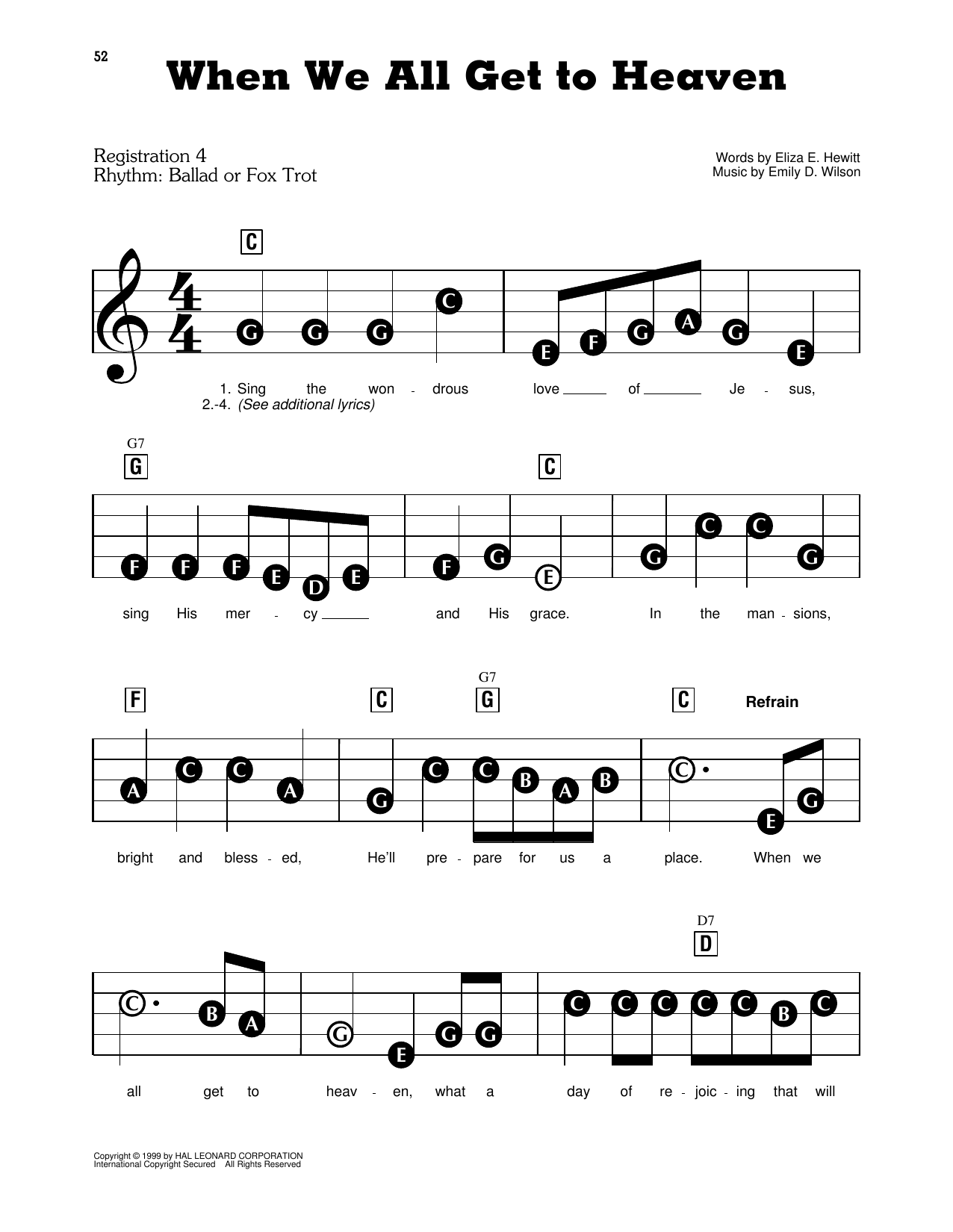 When We All Get To Heaven Sheet Music