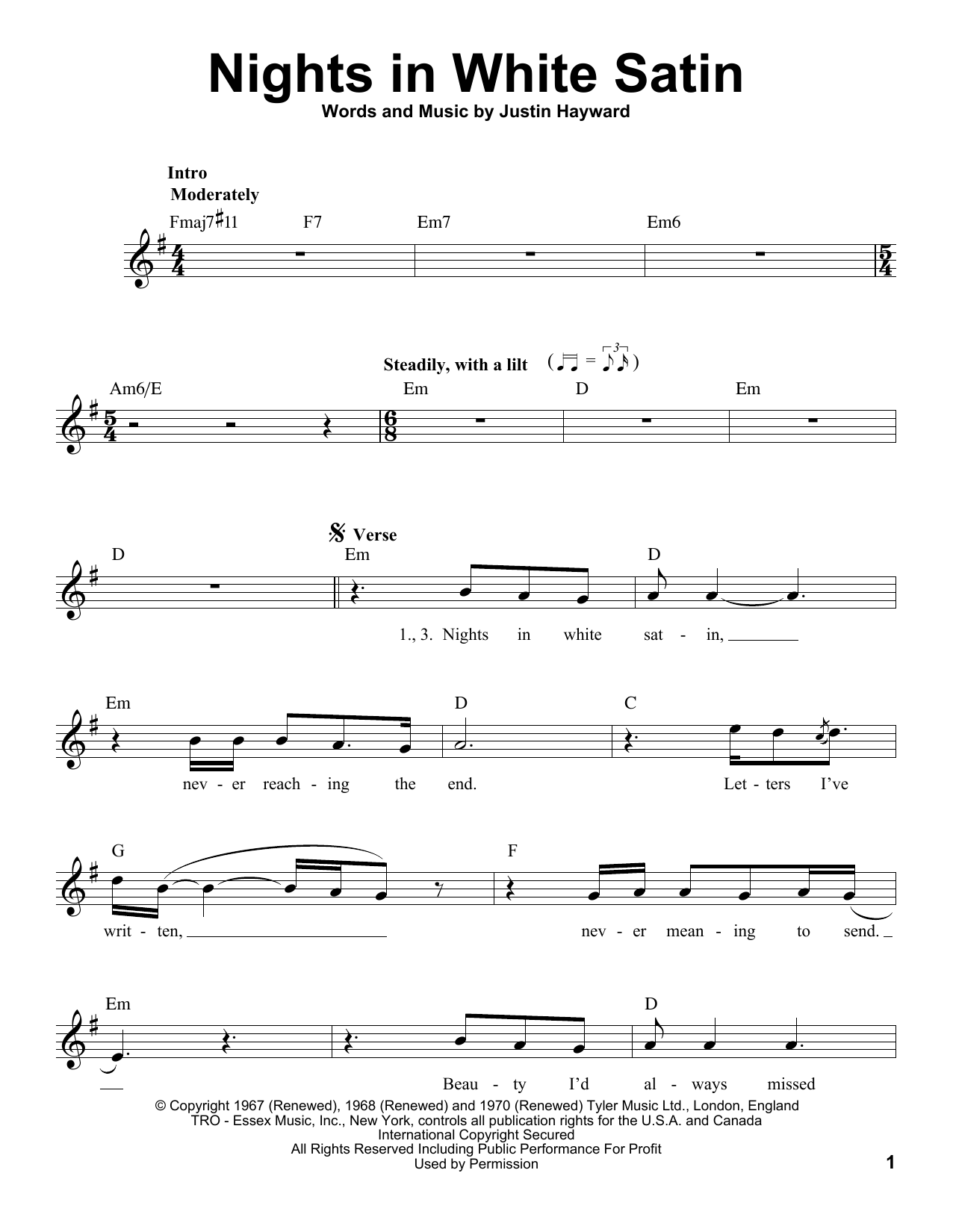 Nights In White Satin (Pro Vocal)