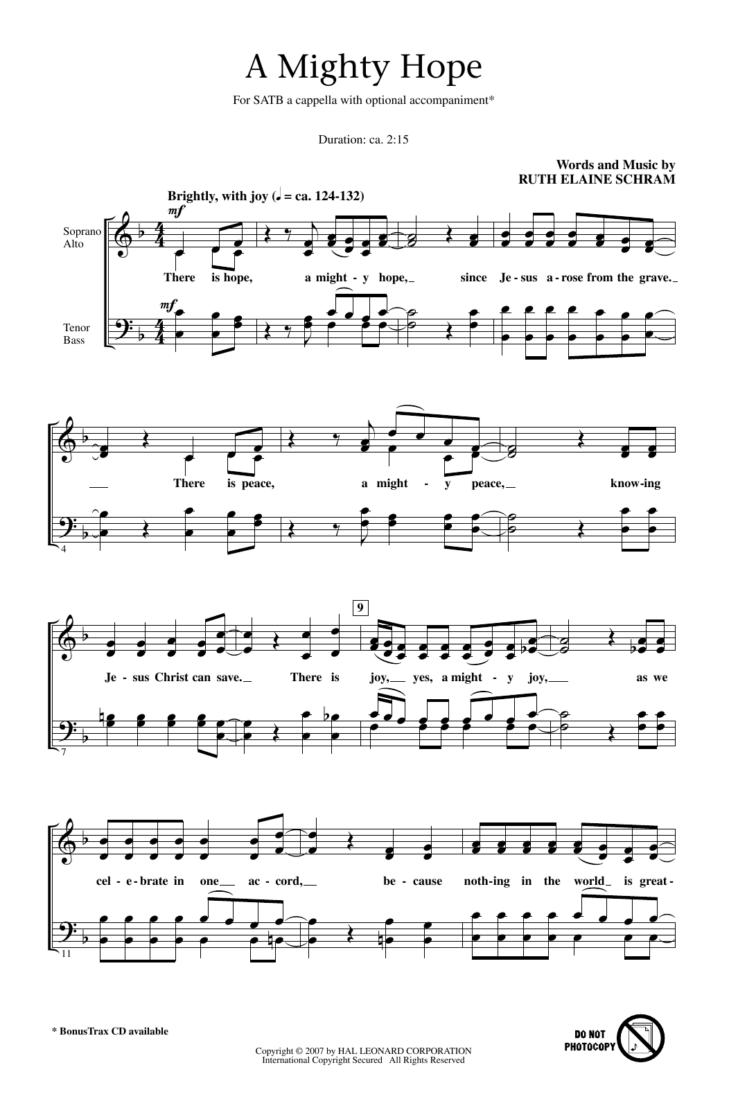 A Mighty Hope Sheet Music