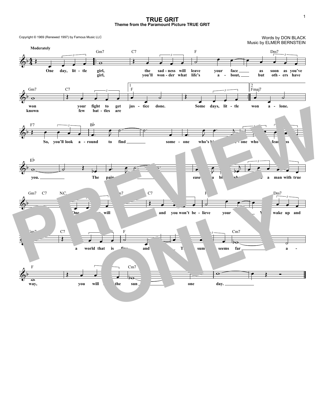 True Grit Sheet Music