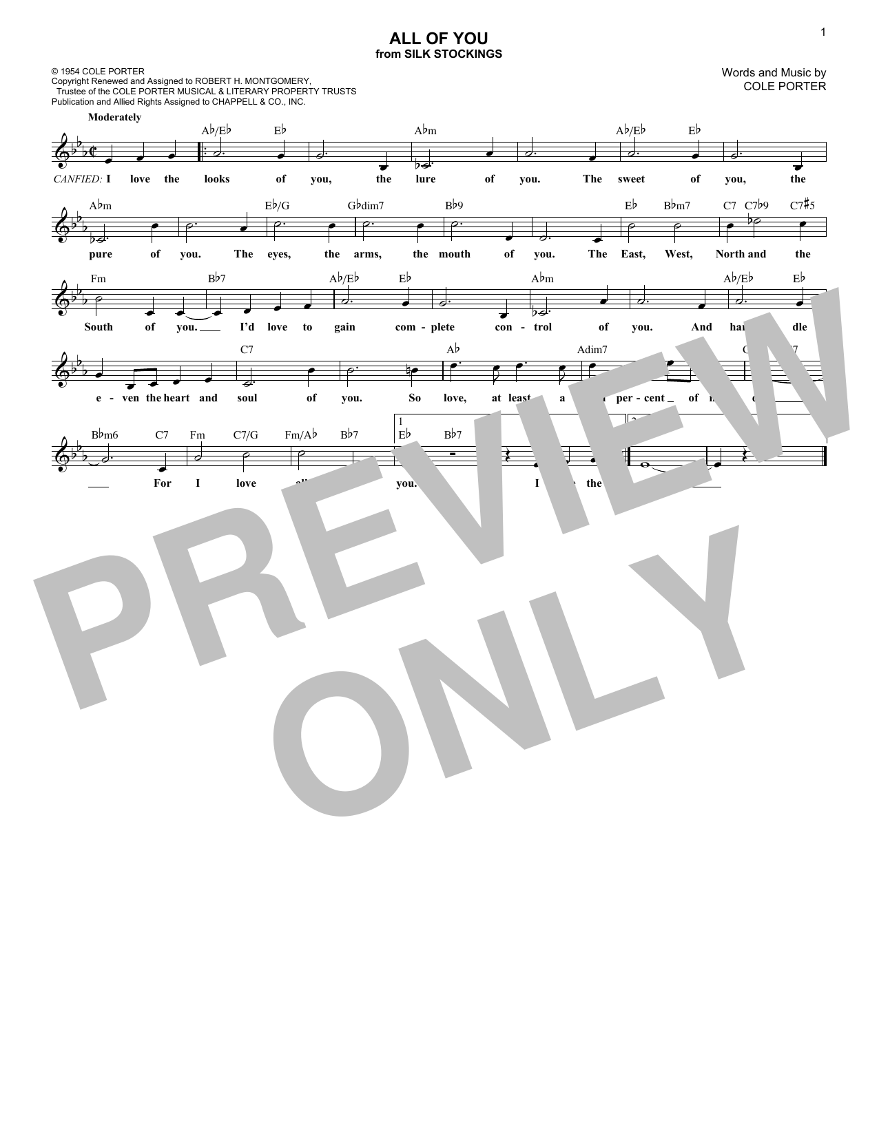 All Of You (Lead Sheet / Fake Book)