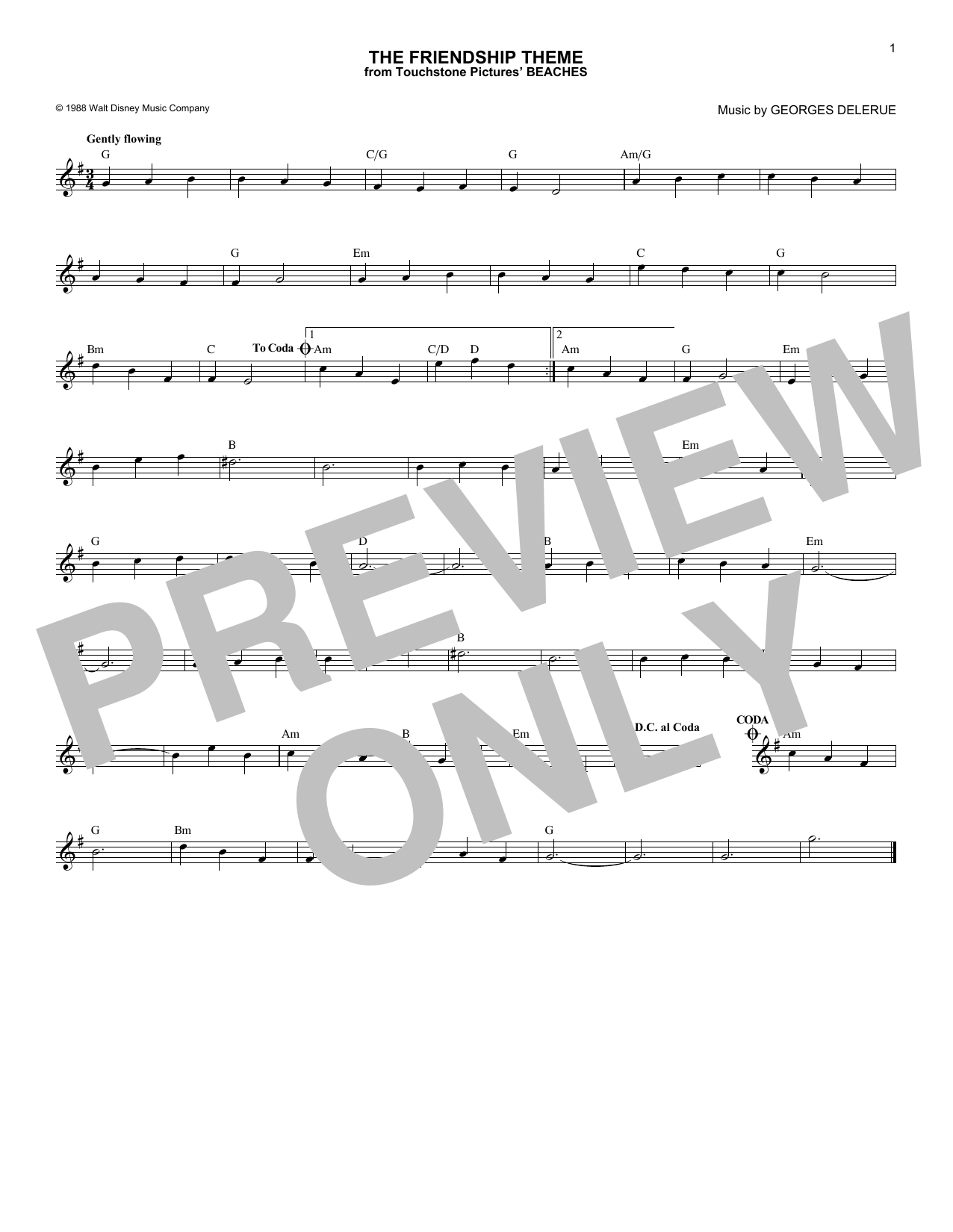 The Friendship Theme Sheet Music