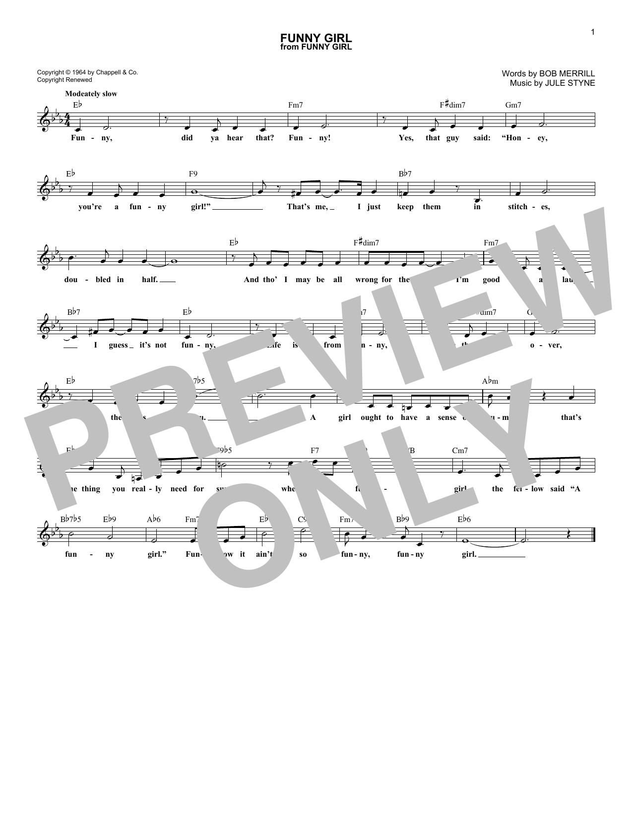 Funny Girl Sheet Music