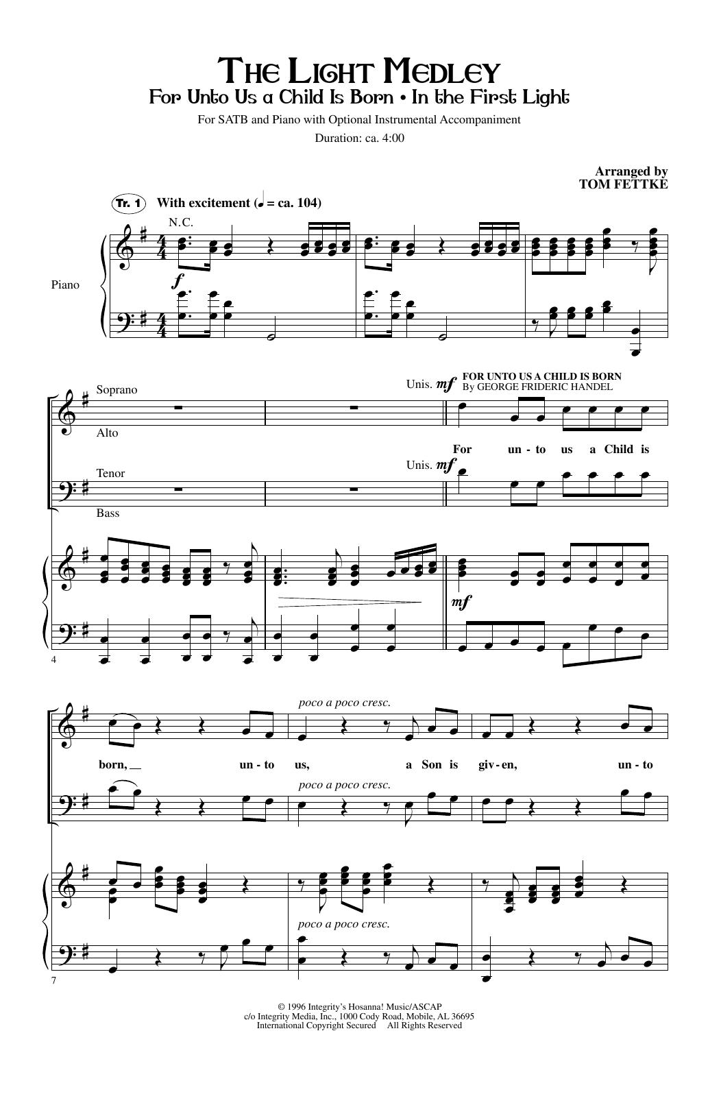 The Light Medley Sheet Music
