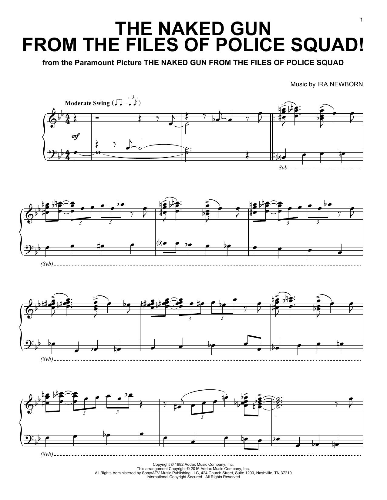 Sheet Music Digital Files To Print Licensed Ira Newborn