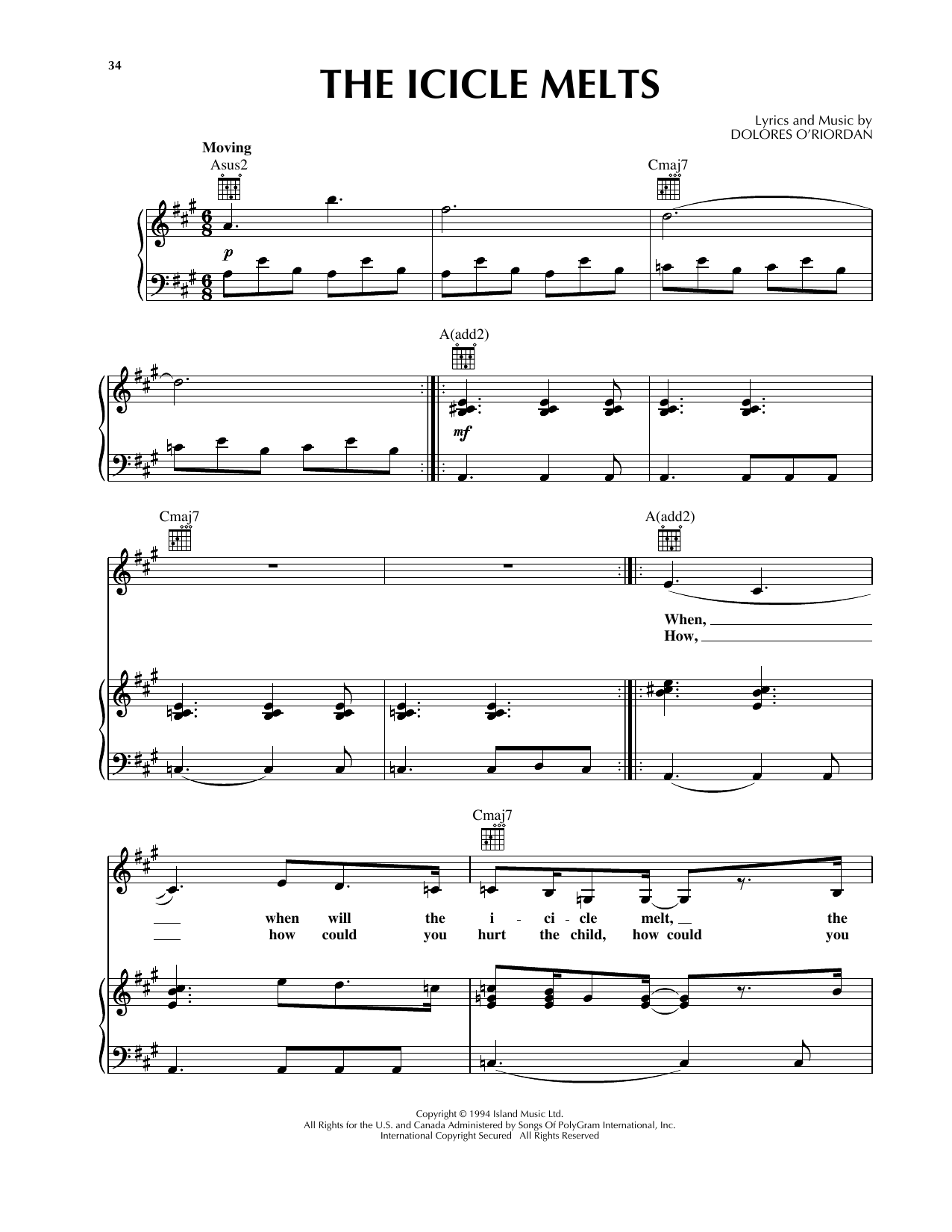 The Icicle Melts Sheet Music