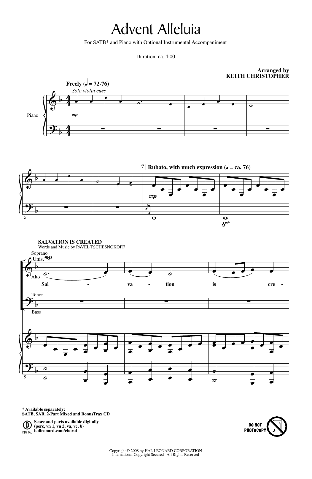 Advent Alleluia Sheet Music