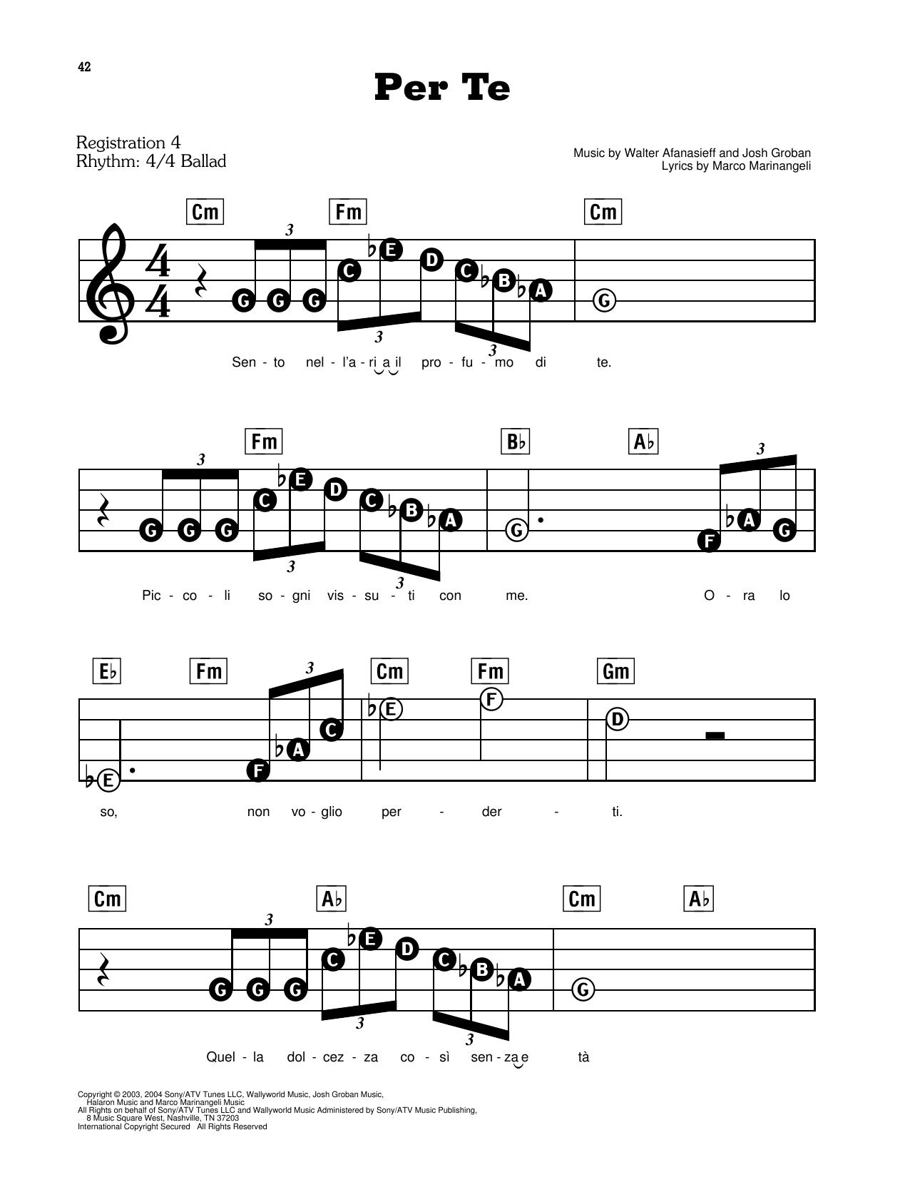 Per Te (E-Z Play Today)