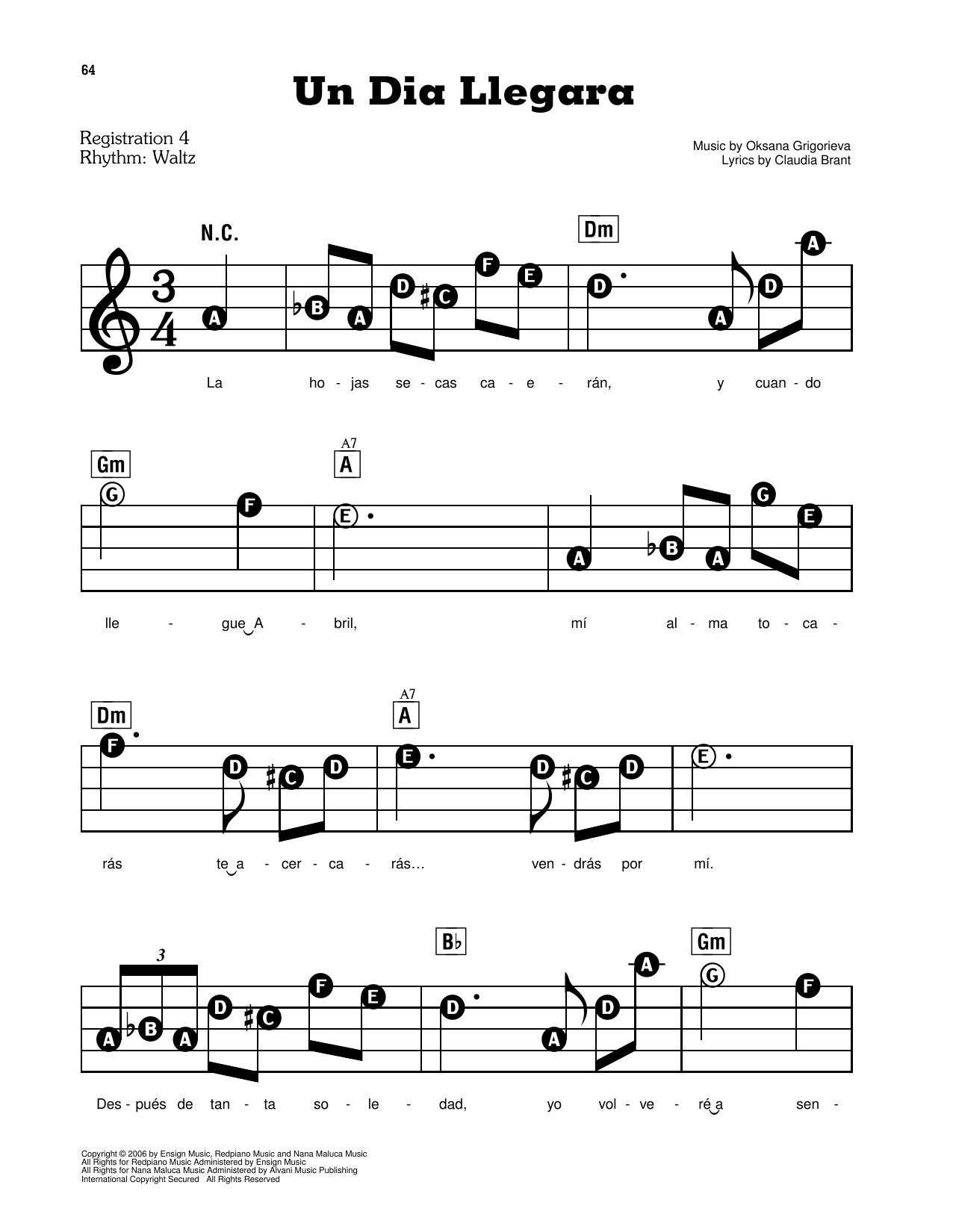 Un Dia Llegara (E-Z Play Today)
