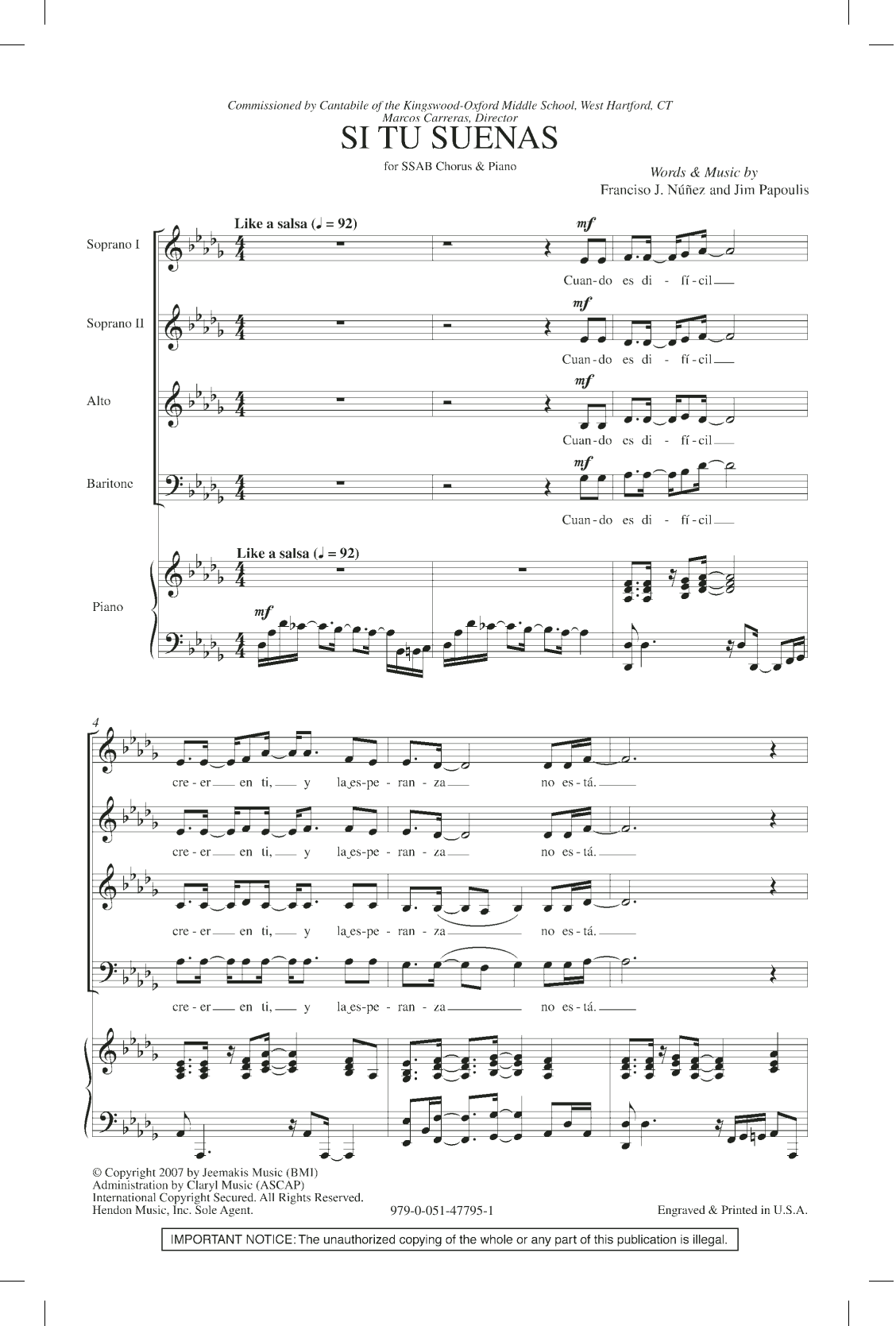 Si Tu Suenas Sheet Music