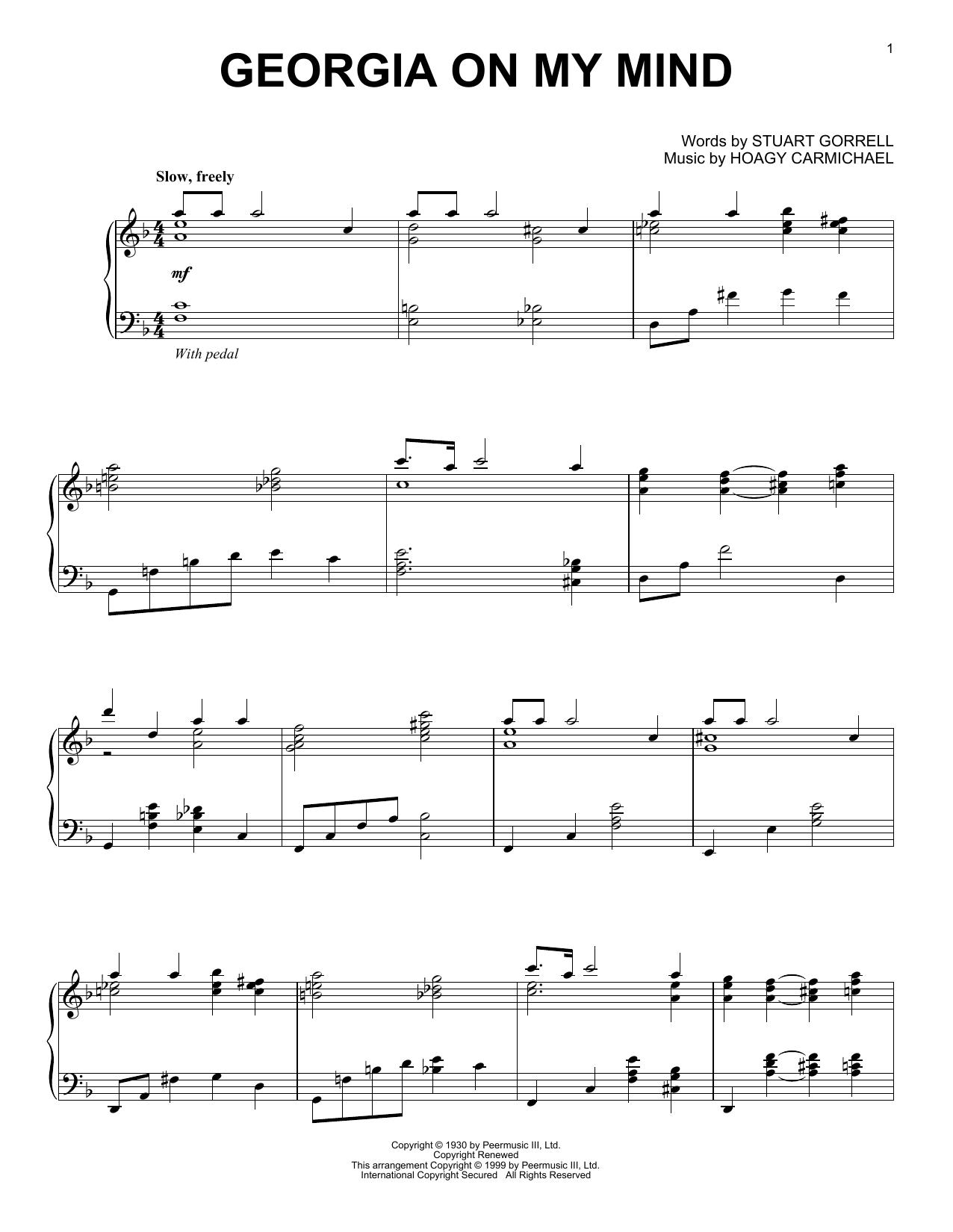 Georgia On My Mind (Piano Solo)