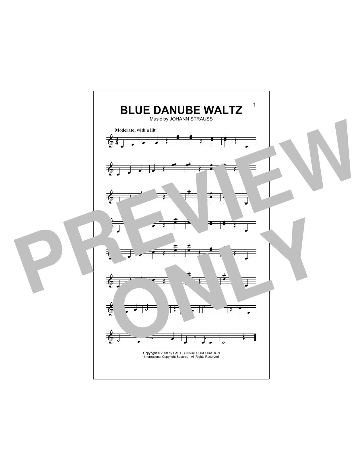 Blue Danube Waltz Sheet Music