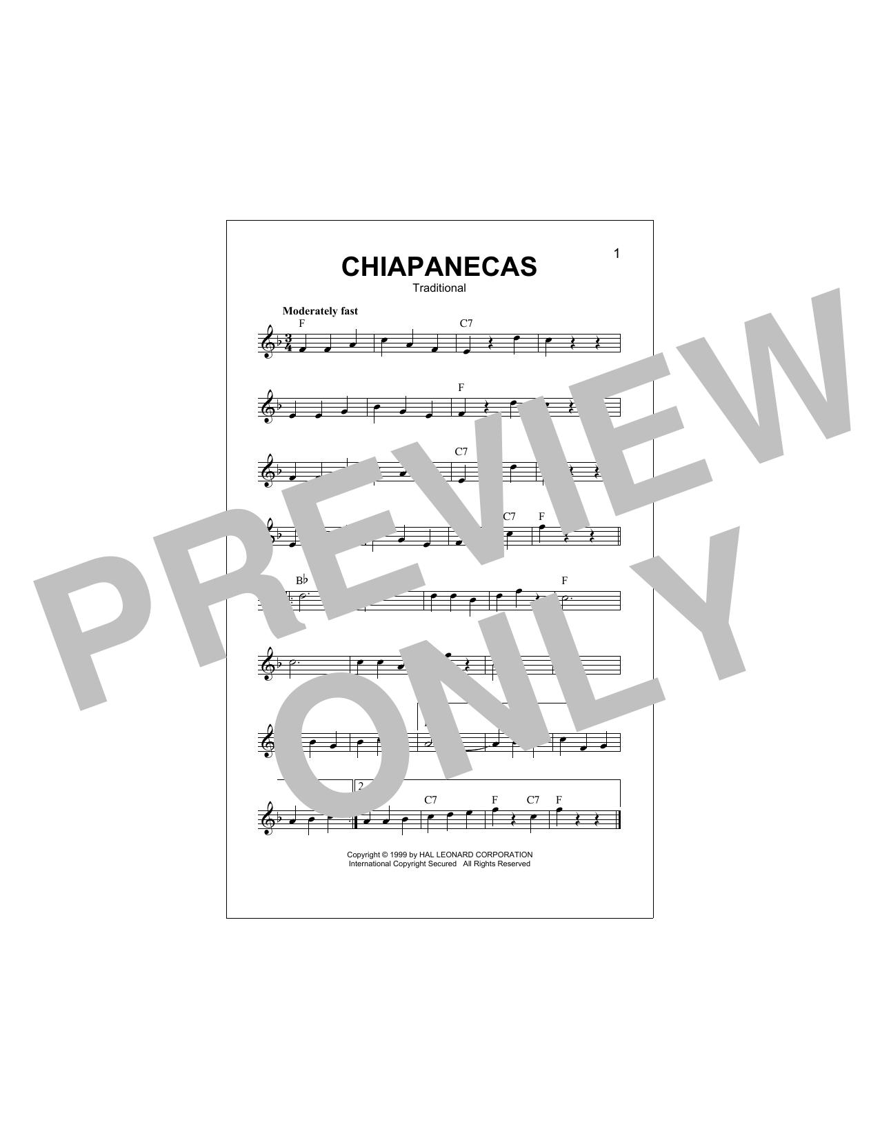 Chiapanecas Sheet Music