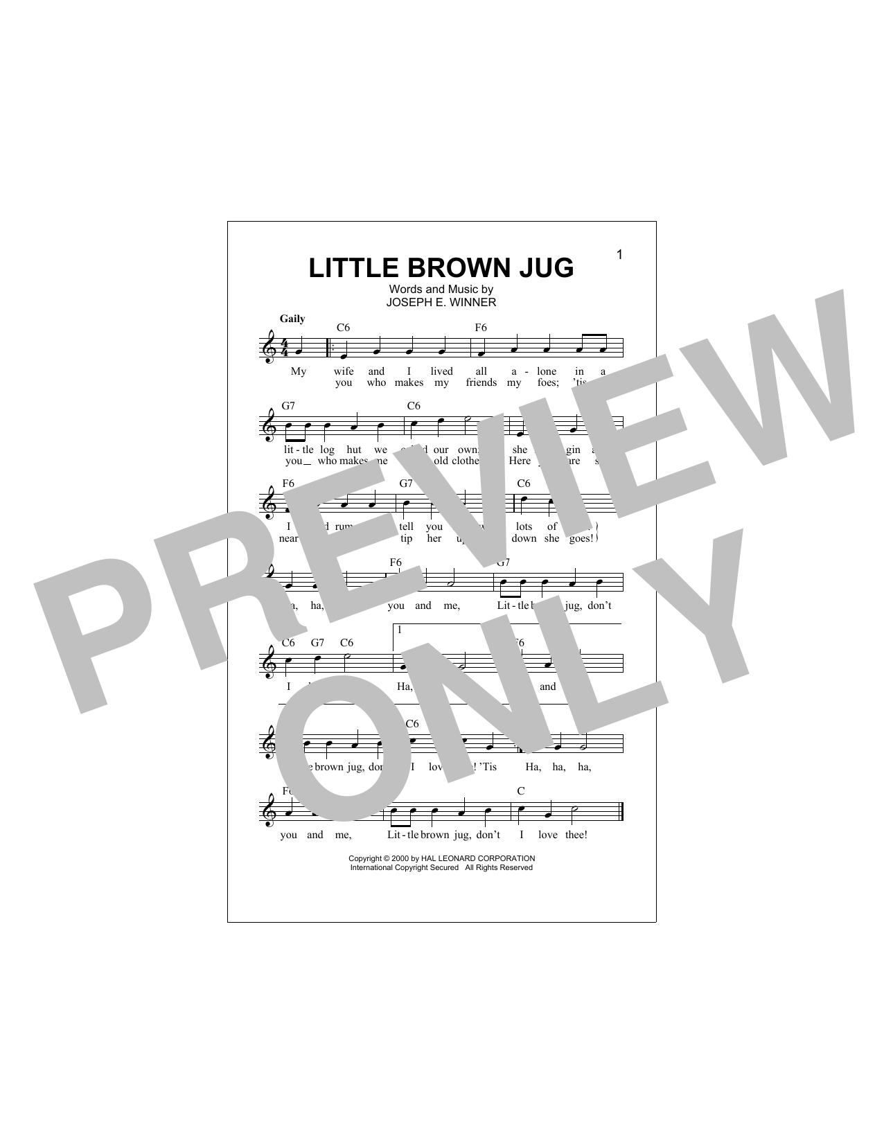 Little Brown Jug Sheet Music