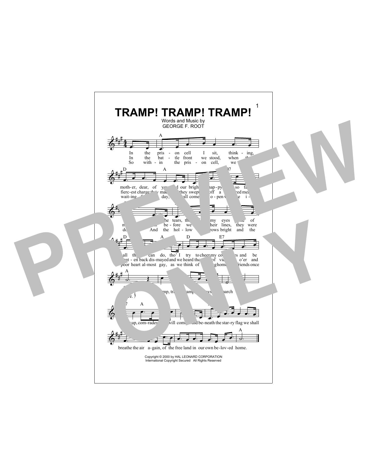 Tramp! Tramp! Tramp! (Lead Sheet / Fake Book)