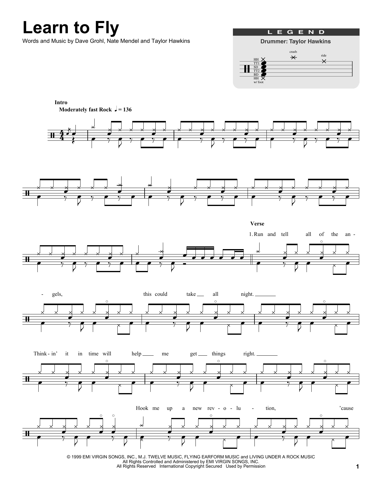 Learn To Fly Sheet Music