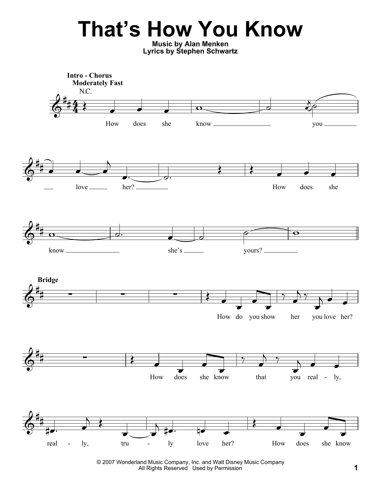 That's How You Know Sheet Music
