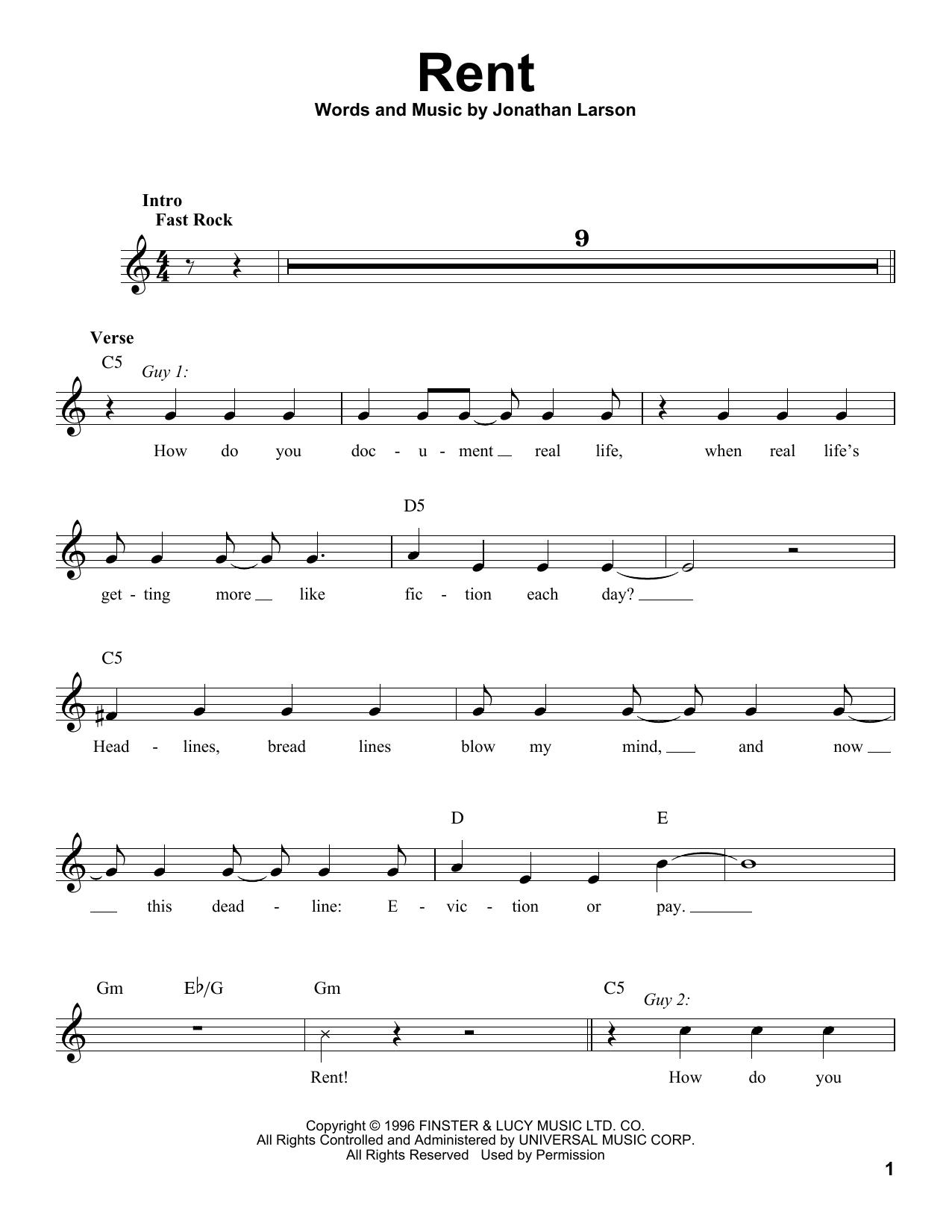 Rent (Pro Vocal)