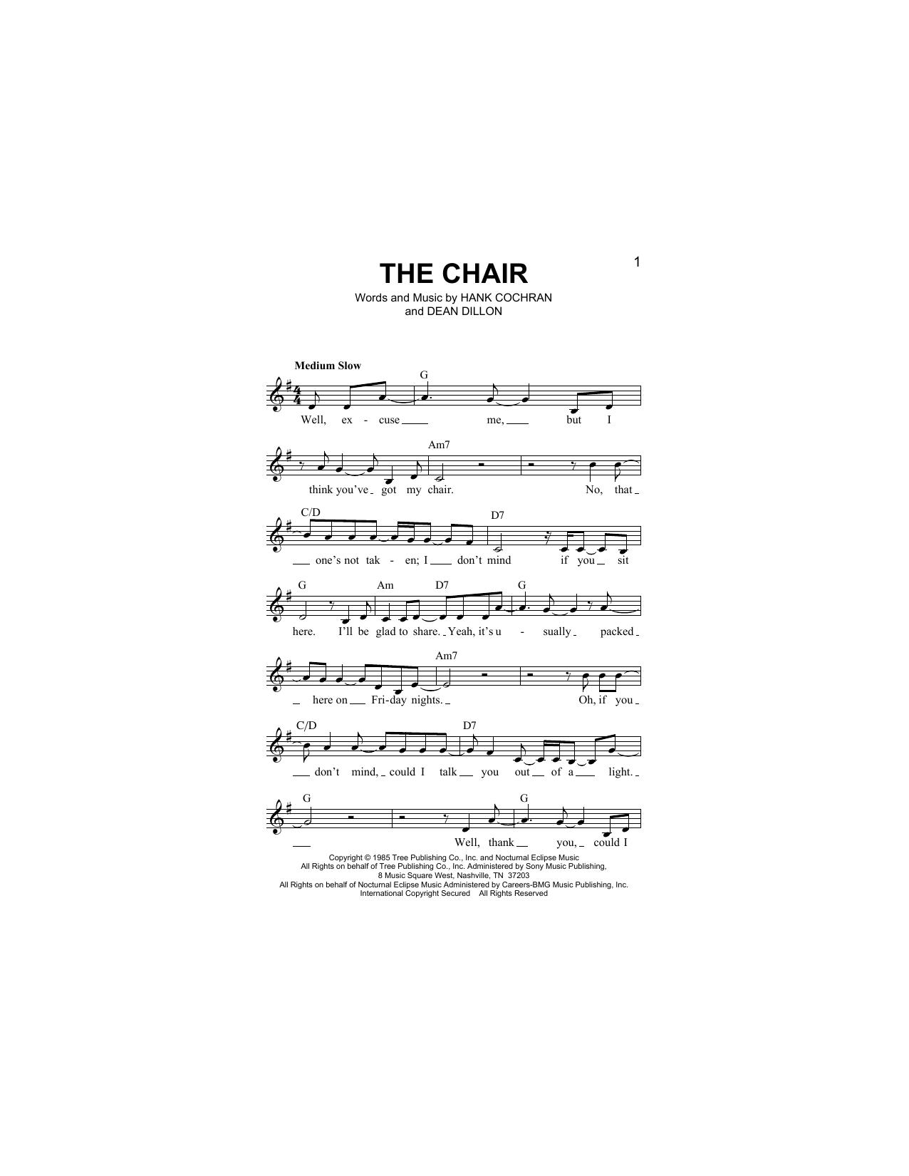 The Chair Sheet Music
