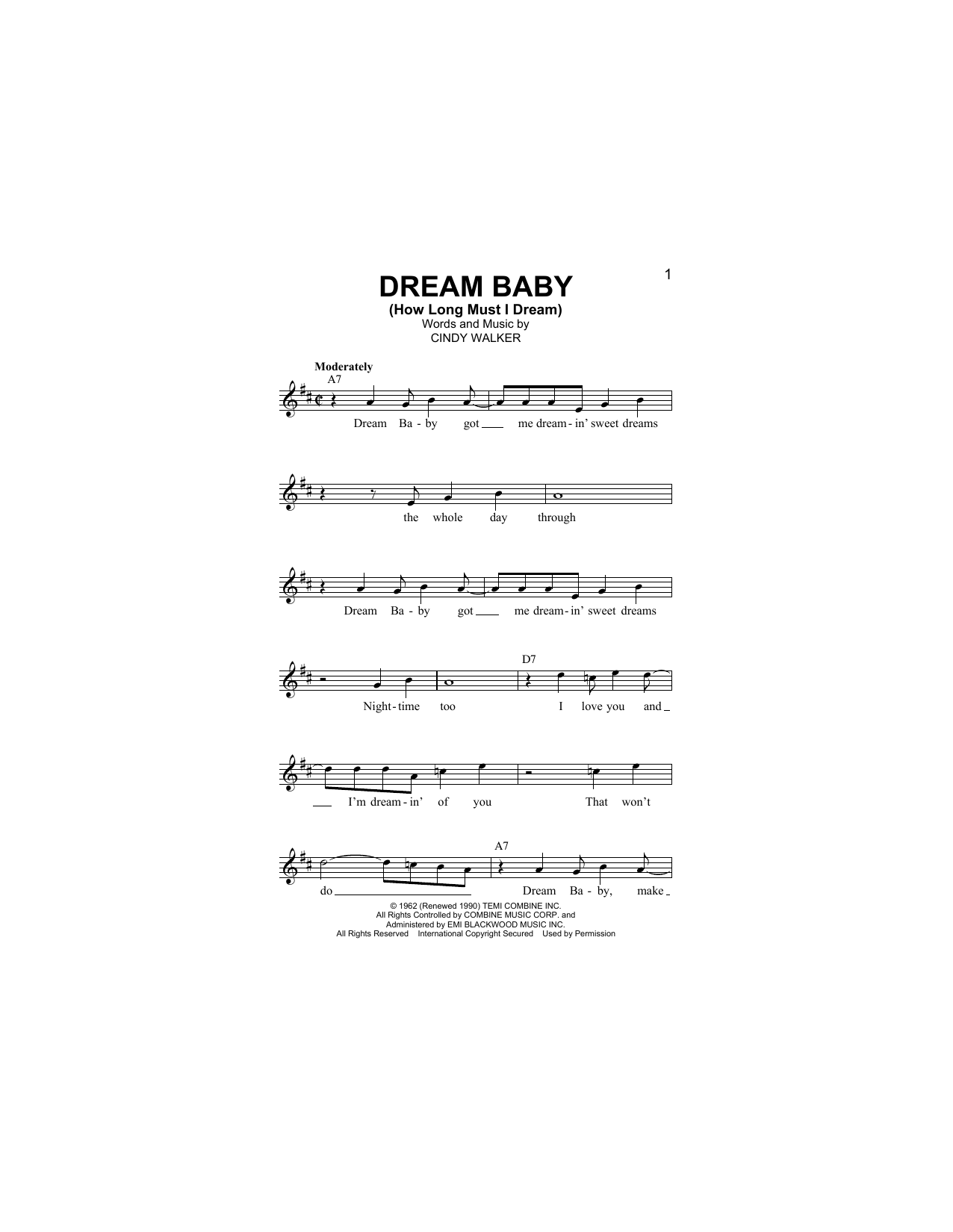 Dream Baby (How Long Must I Dream) Sheet Music