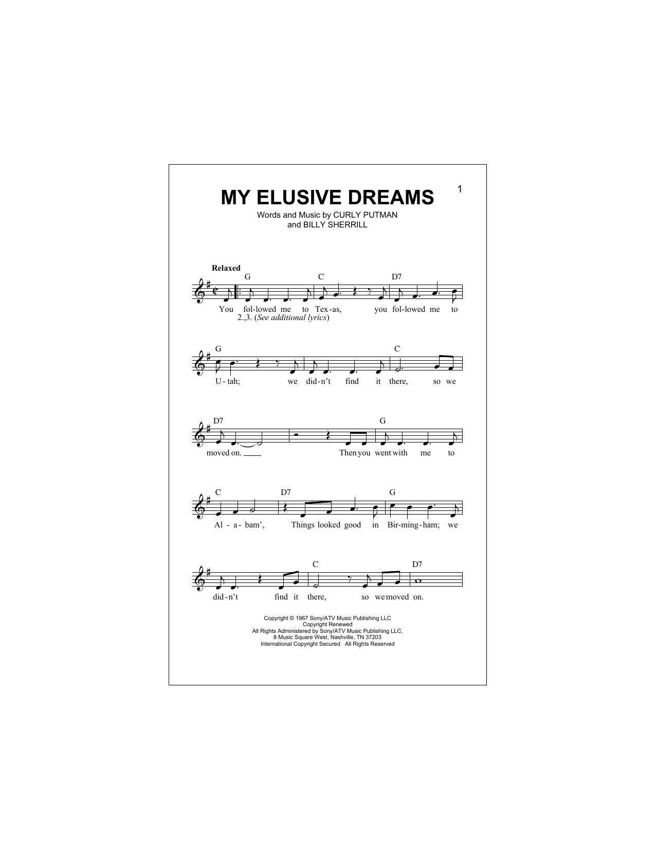 My Elusive Dreams Sheet Music