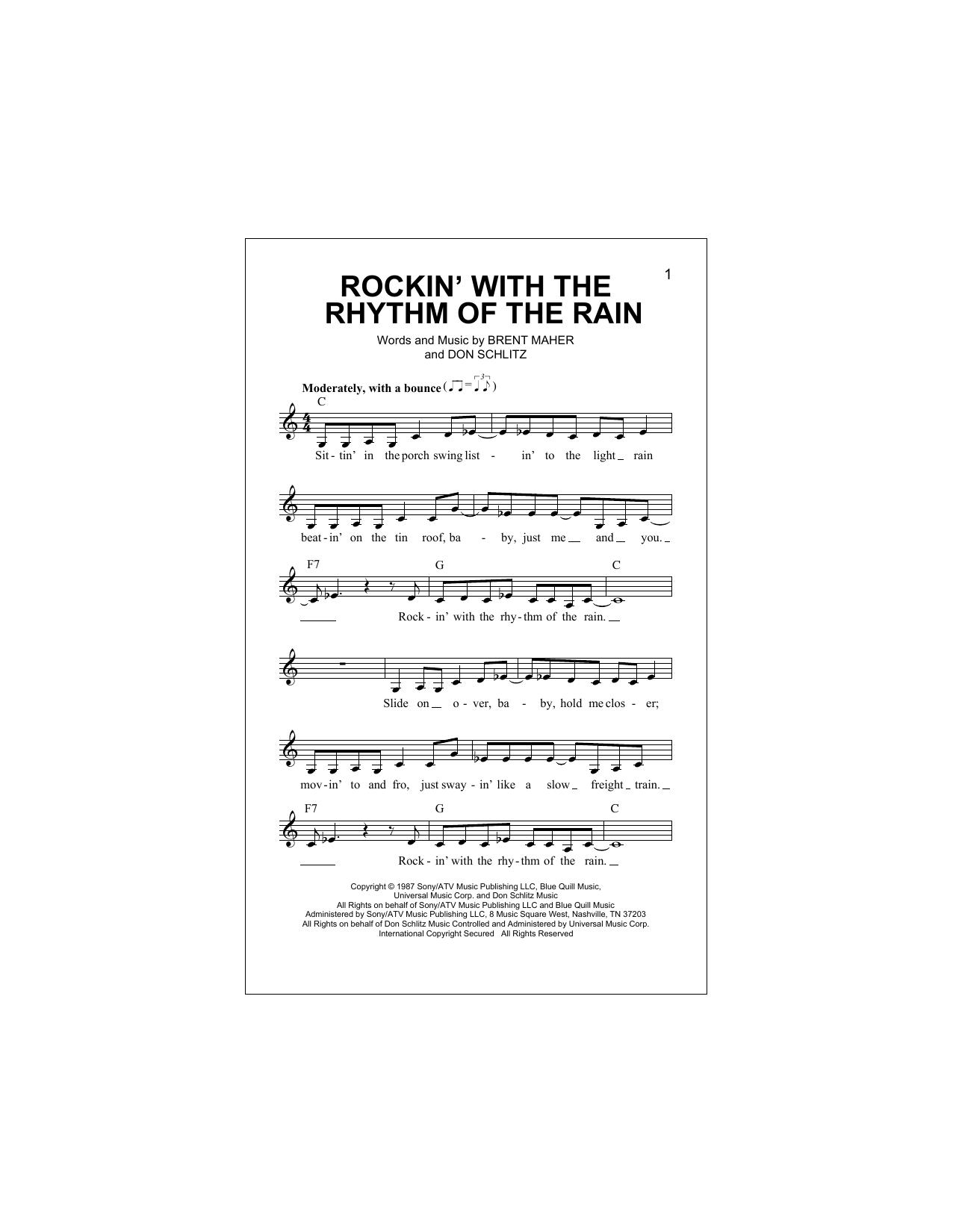 Rockin' With The Rhythm Of The Rain Sheet Music