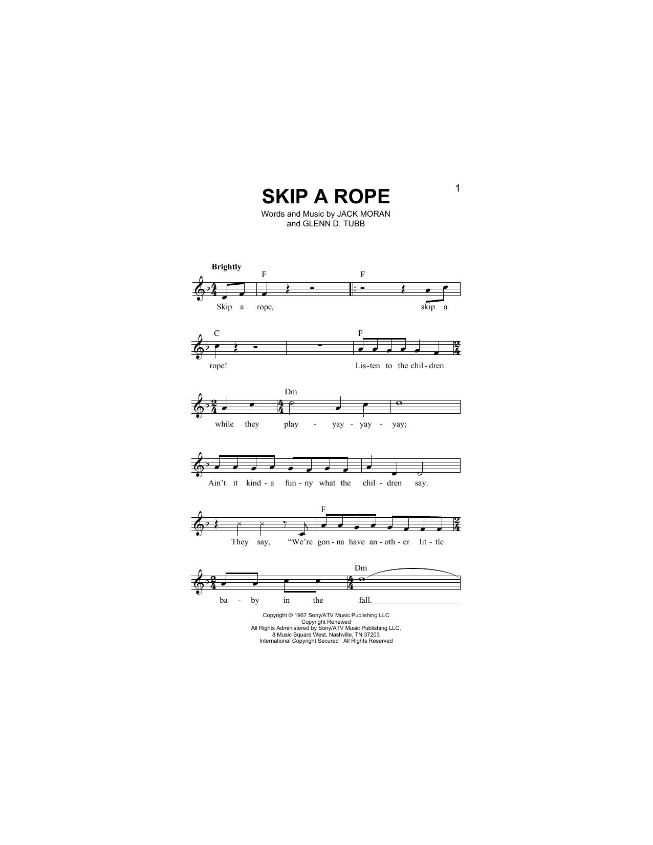 Skip A Rope Sheet Music