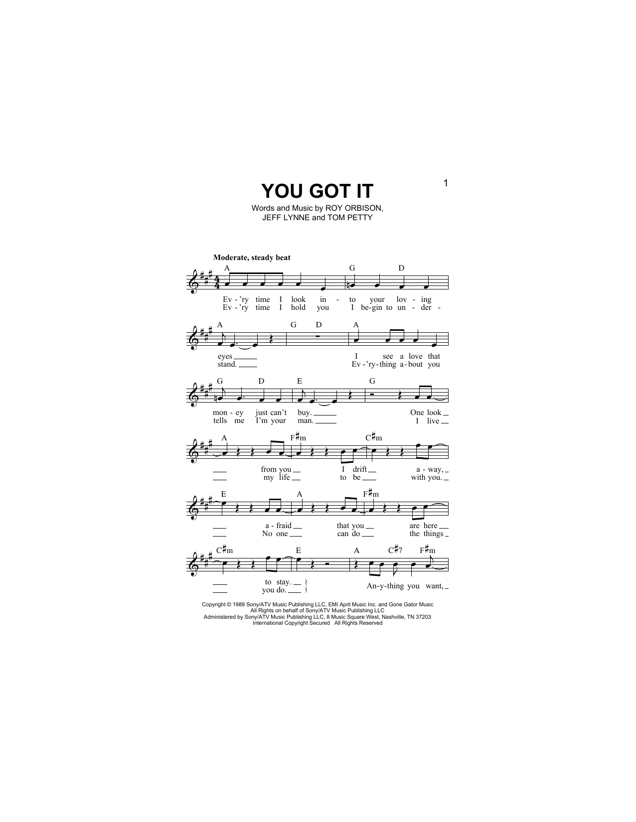 You Got It Sheet Music