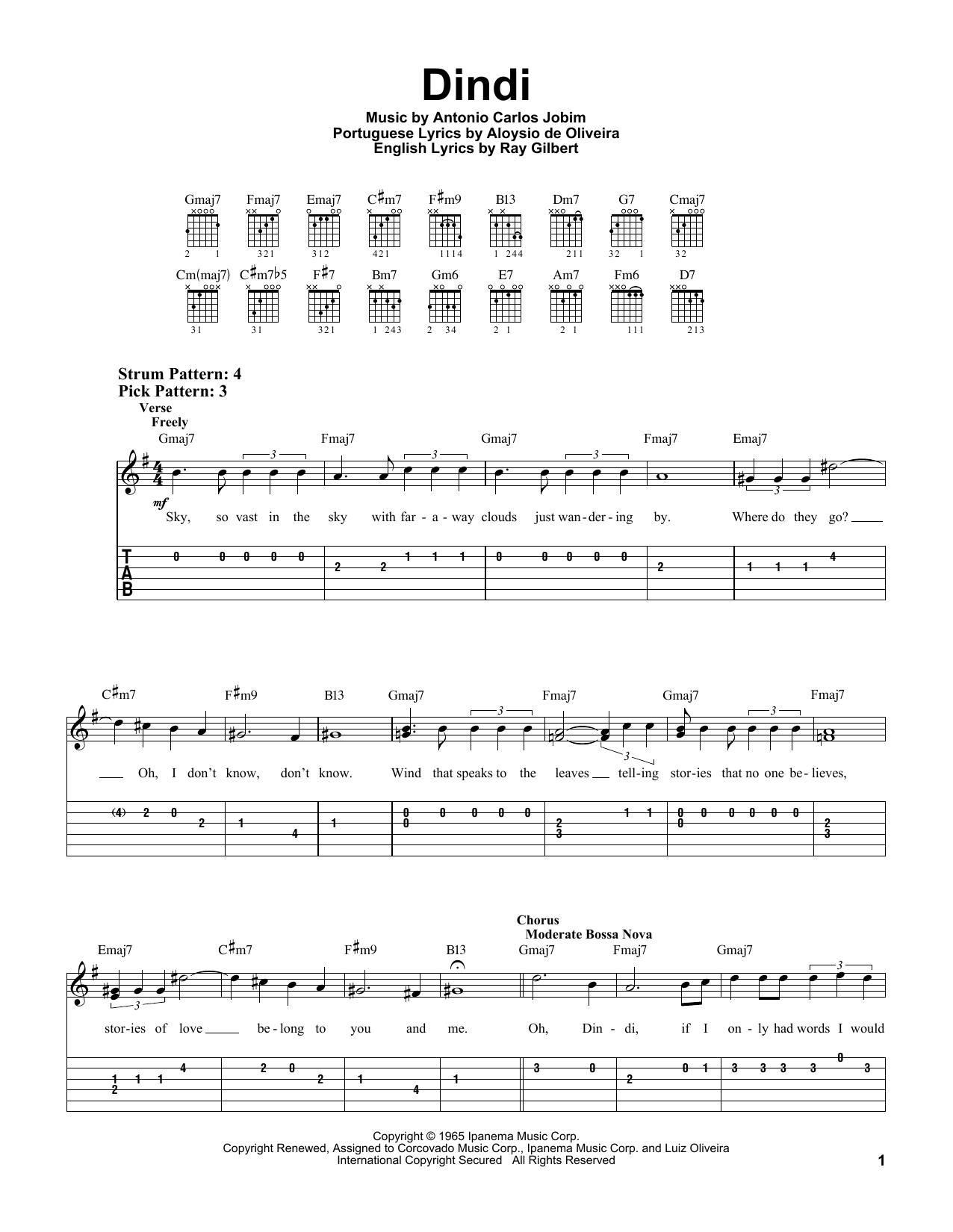 Dindi Sheet Music