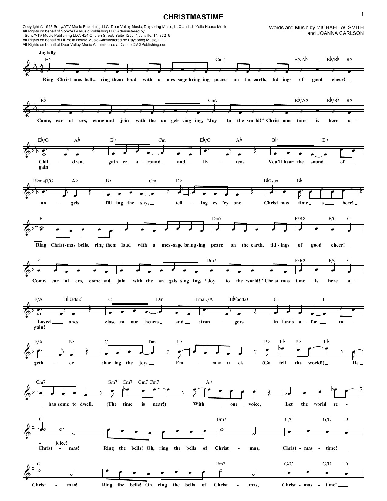 Christmastime (Lead Sheet / Fake Book)