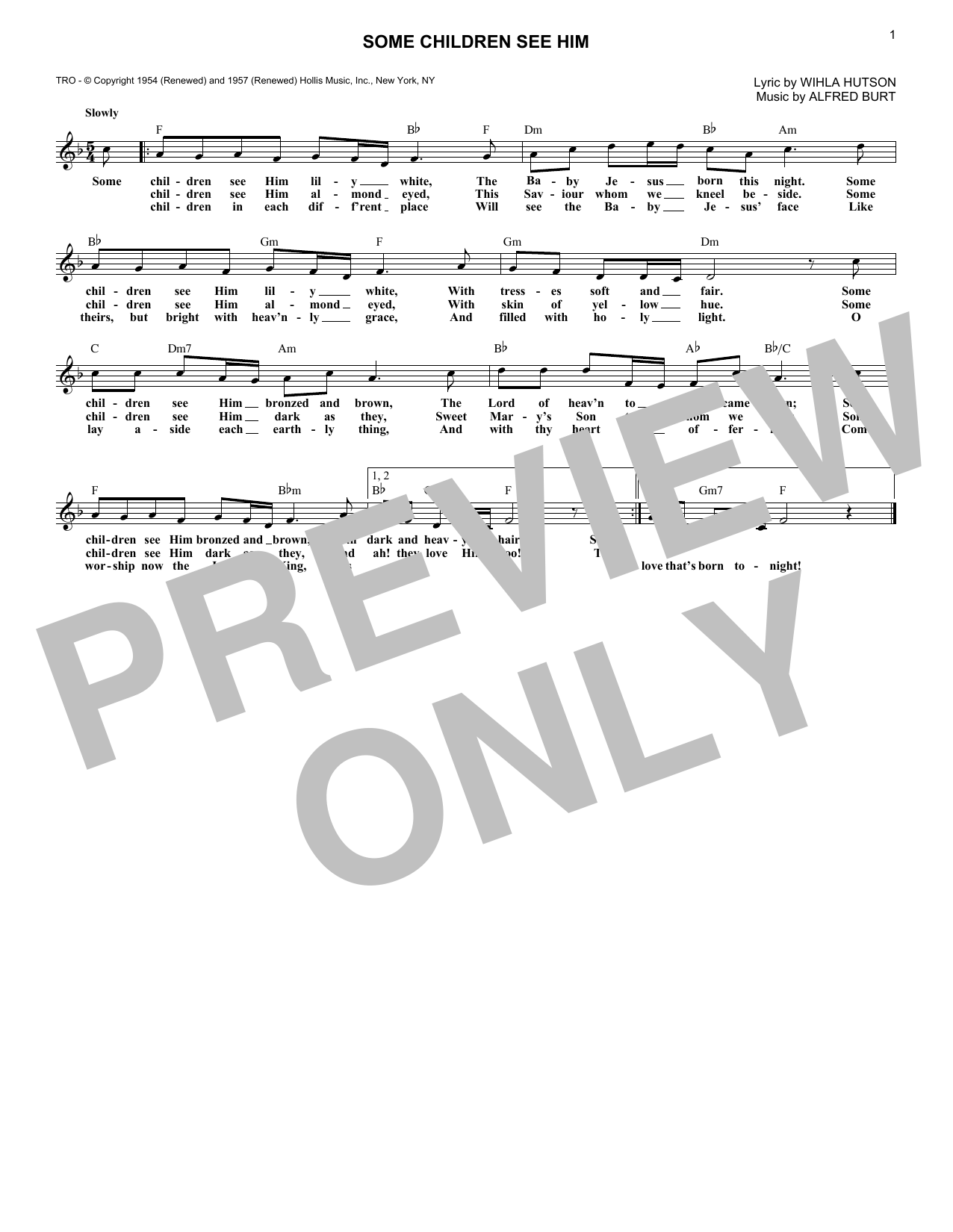 Some Children See Him (Lead Sheet / Fake Book)
