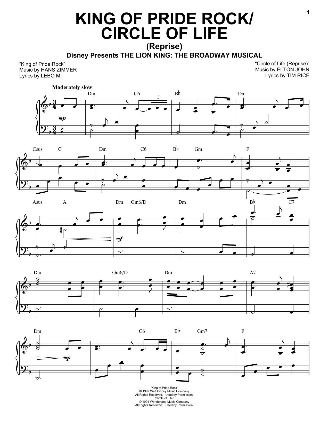 page one of King Of Pride RockASALTTEXT