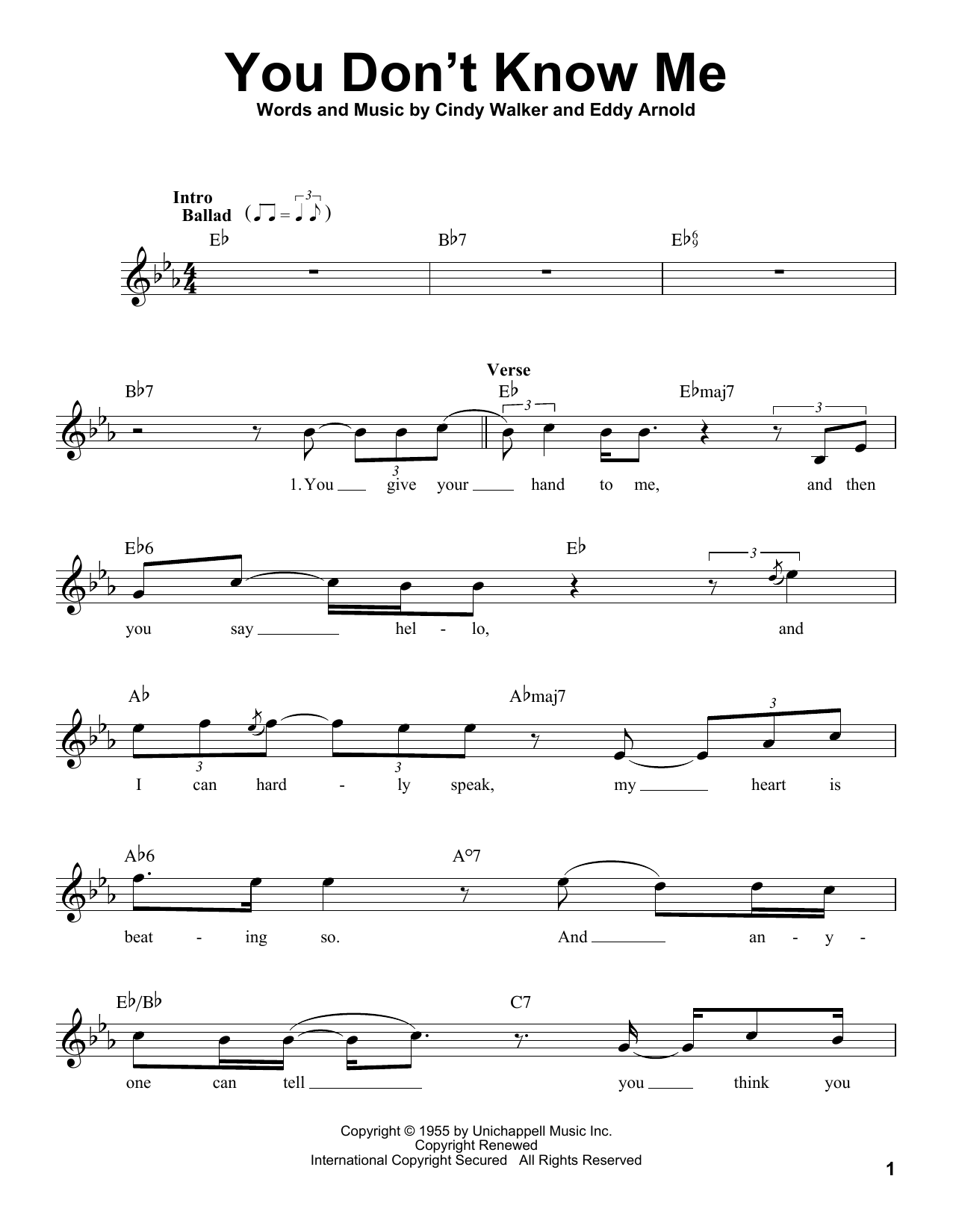 You Don't Know Me Sheet Music
