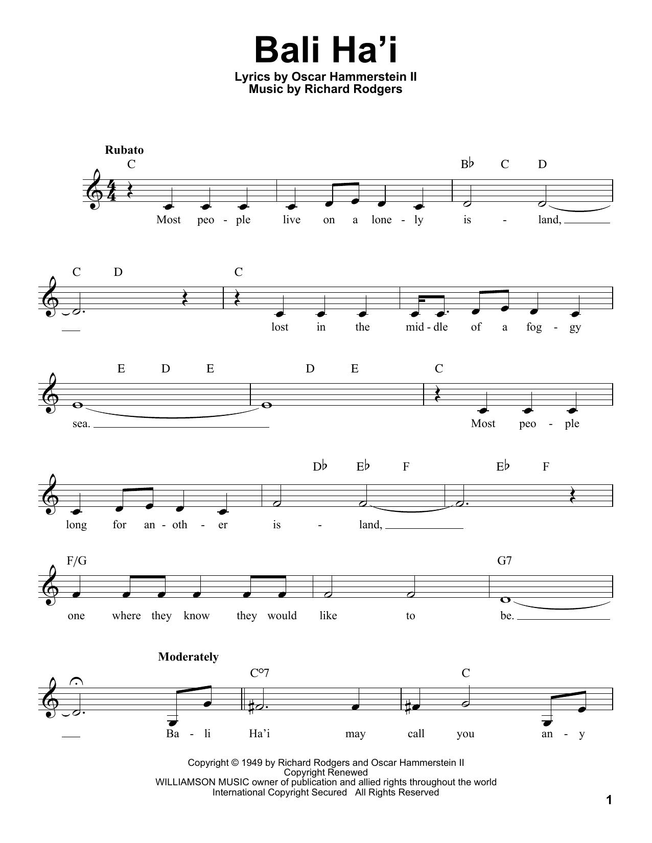 Bali Ha'i (Pro Vocal)