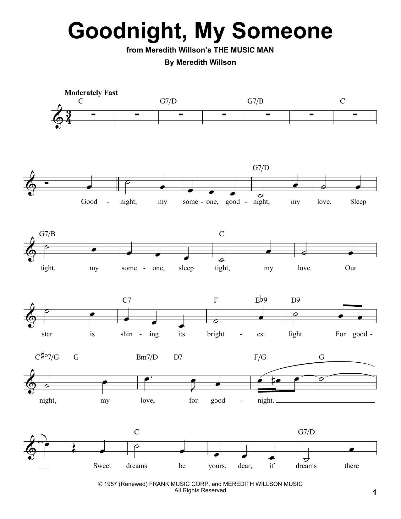 Goodnight, My Someone Sheet Music