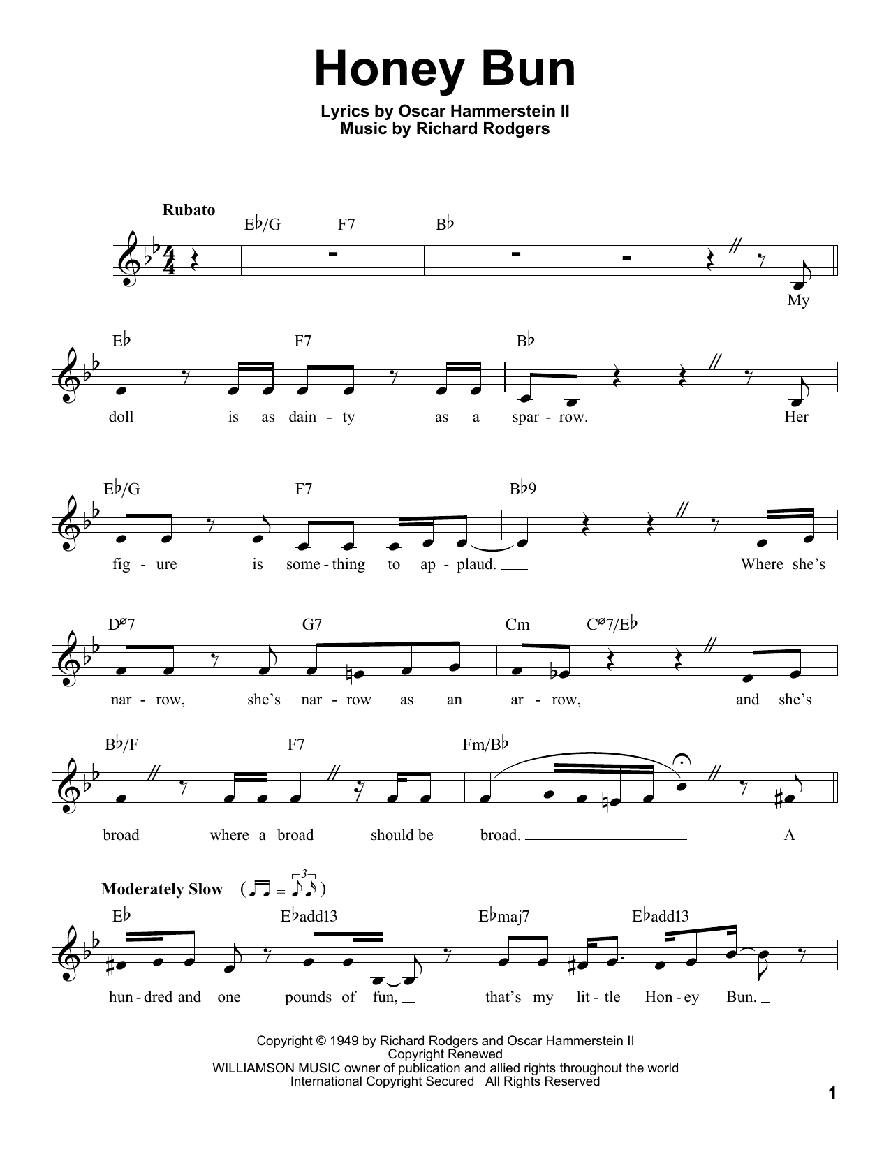 Honey Bun Sheet Music