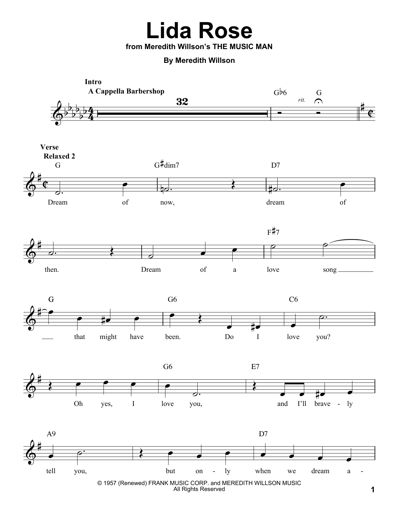 Lida Rose Sheet Music