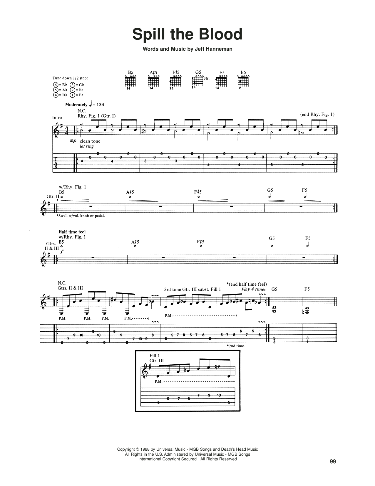 Spill The Blood (Guitar Tab)