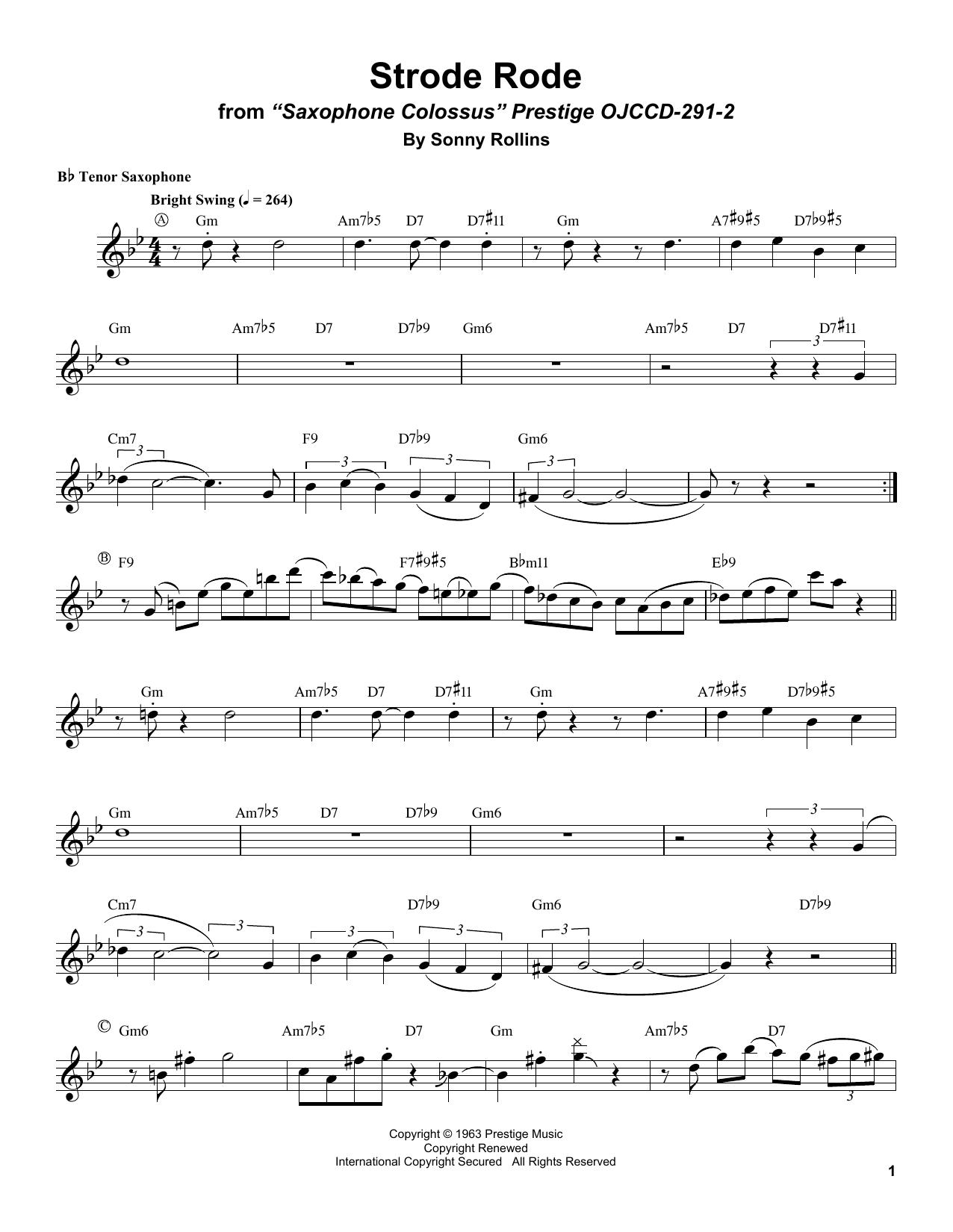 Strode Rode Sheet Music