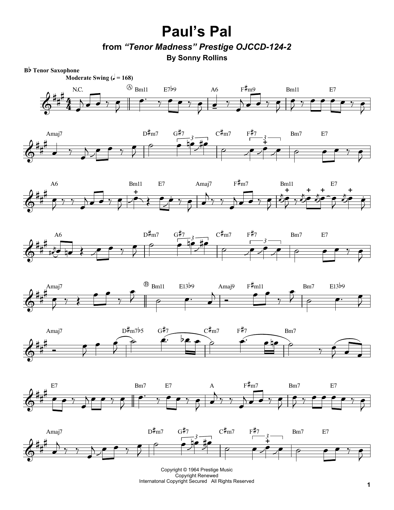 Paul's Pal Sheet Music