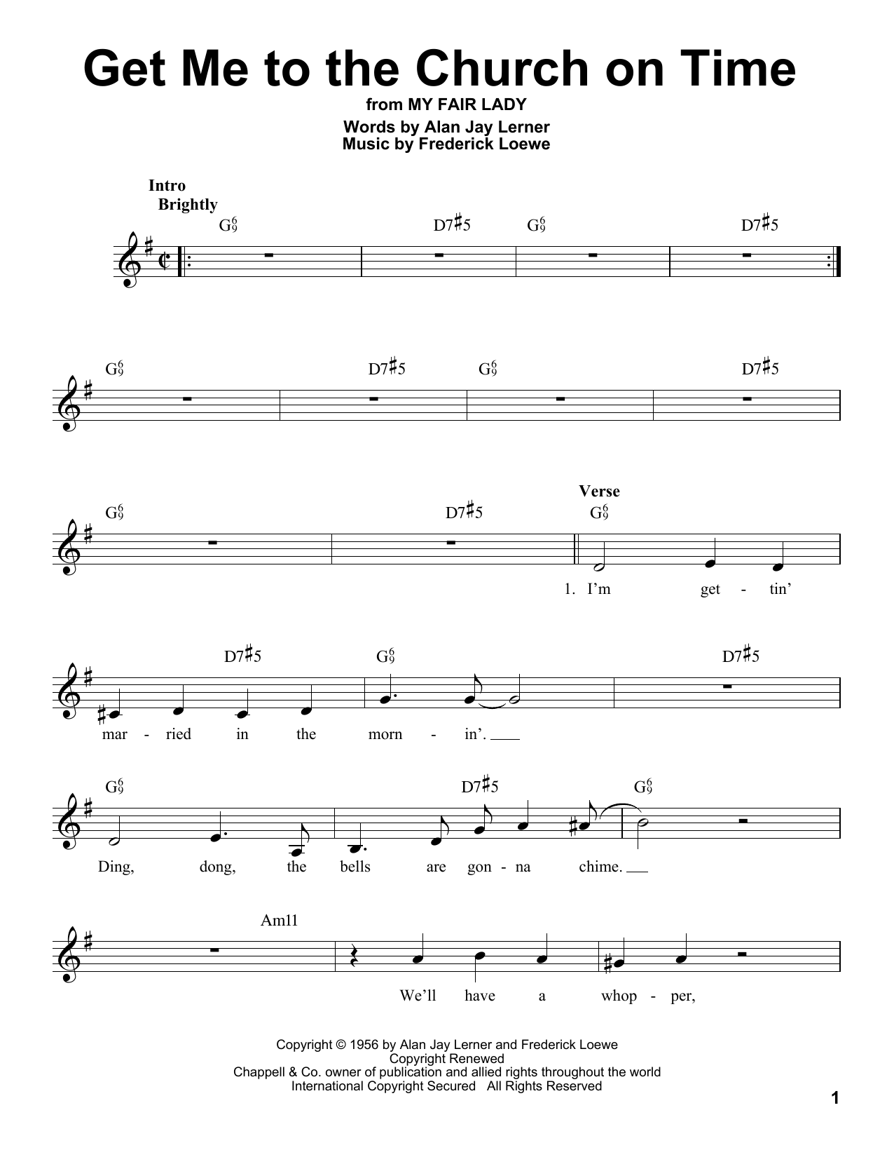 Get Me To The Church On Time Sheet Music