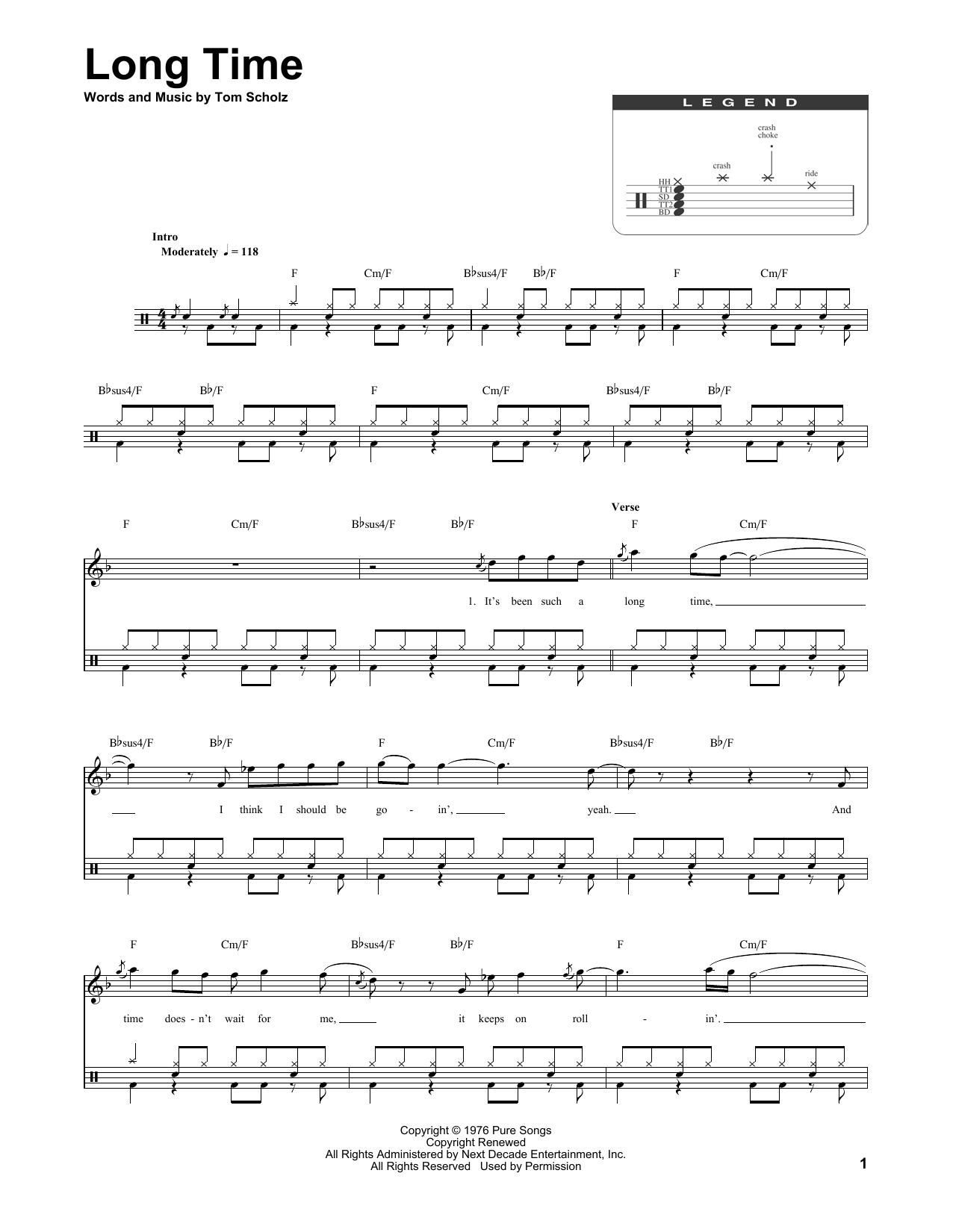 Long Time (Drums Transcription)