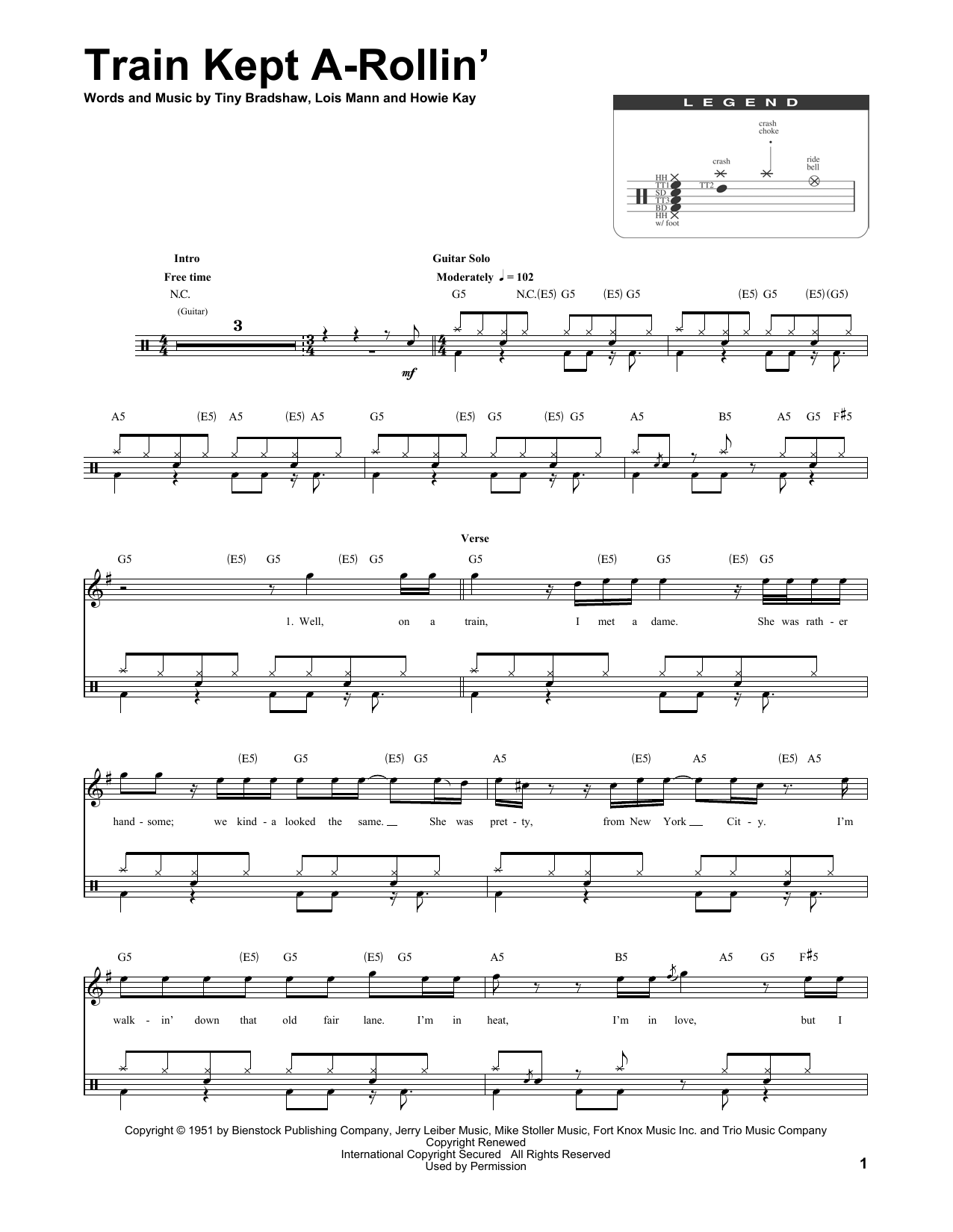 Train Kept A-Rollin' Sheet Music
