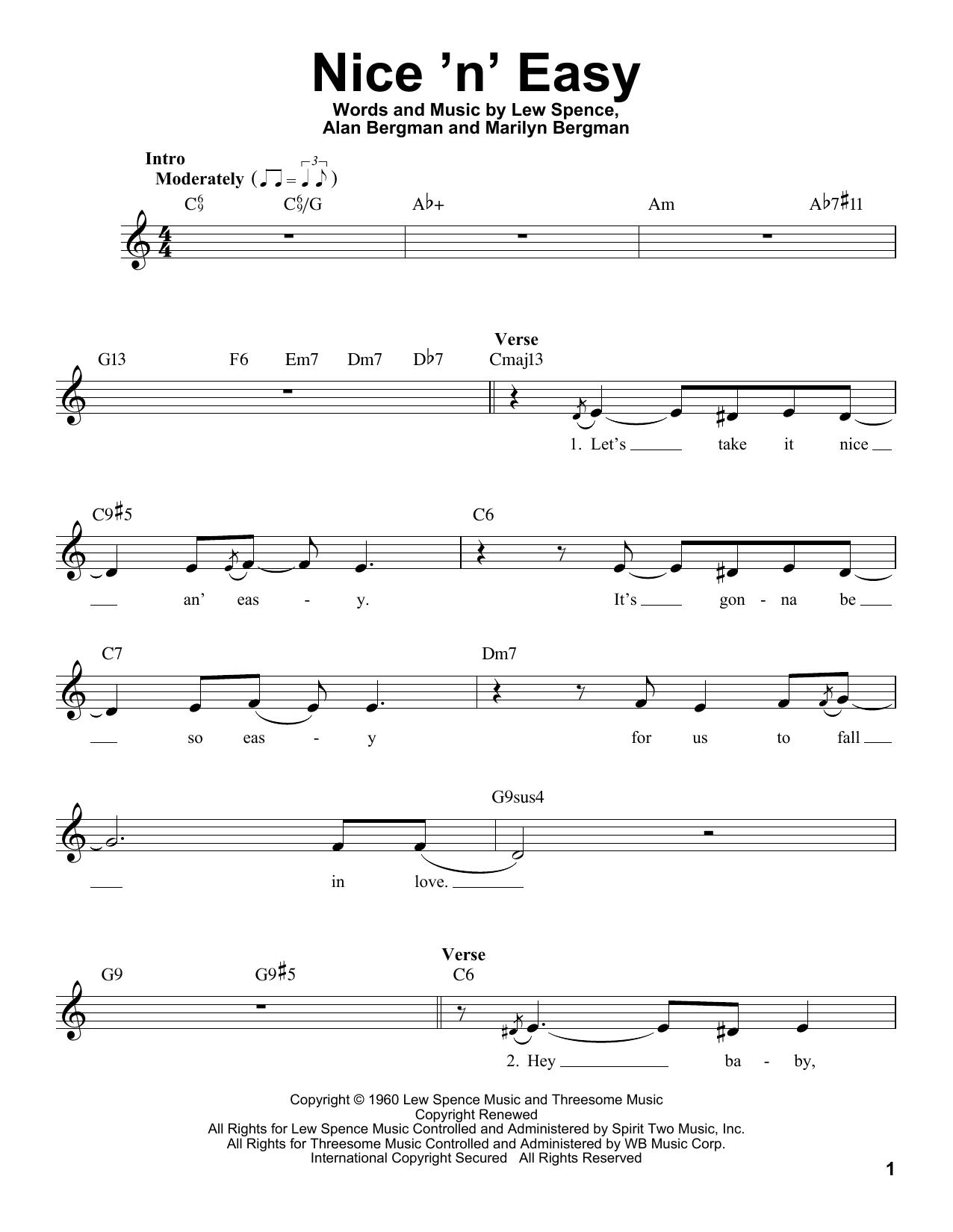 Nice 'n' Easy Sheet Music