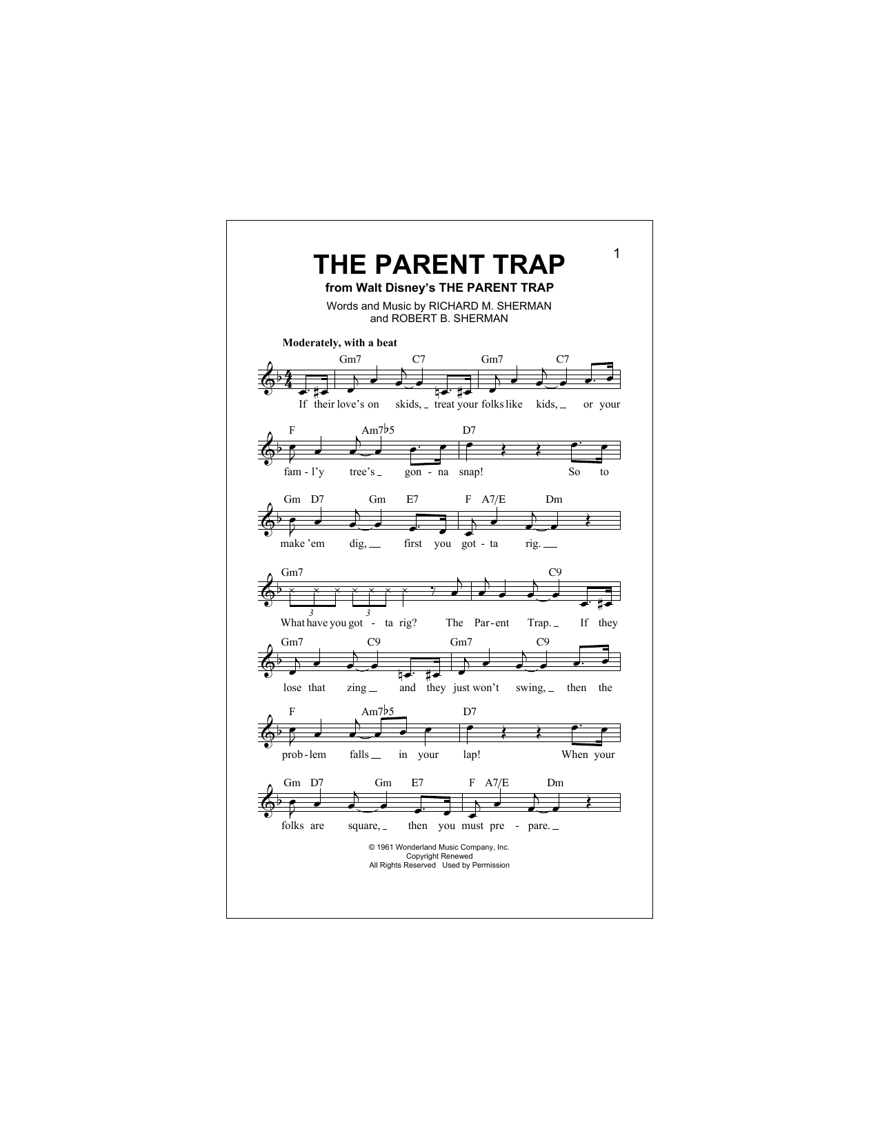 The Parent Trap Sheet Music