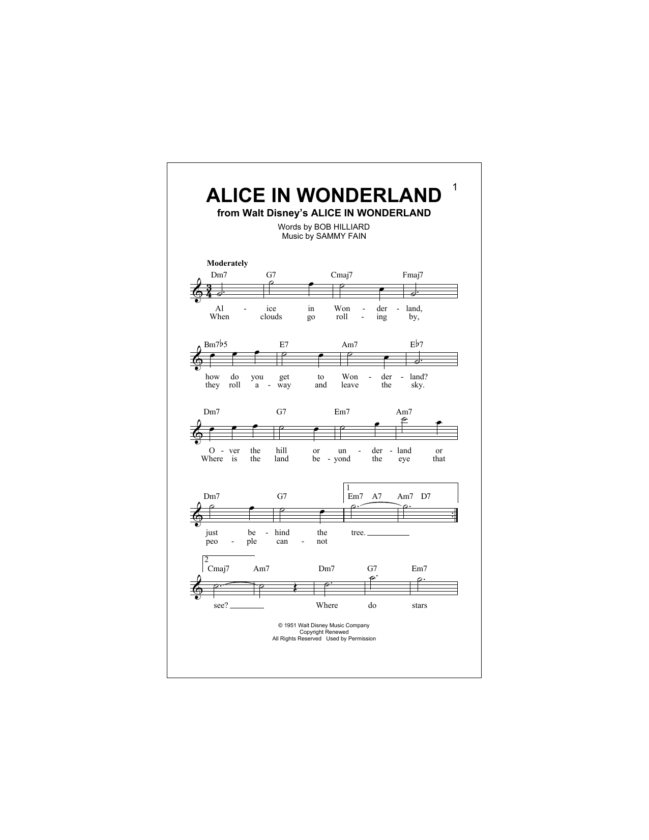 page one of Alice In WonderlandASALTTEXT